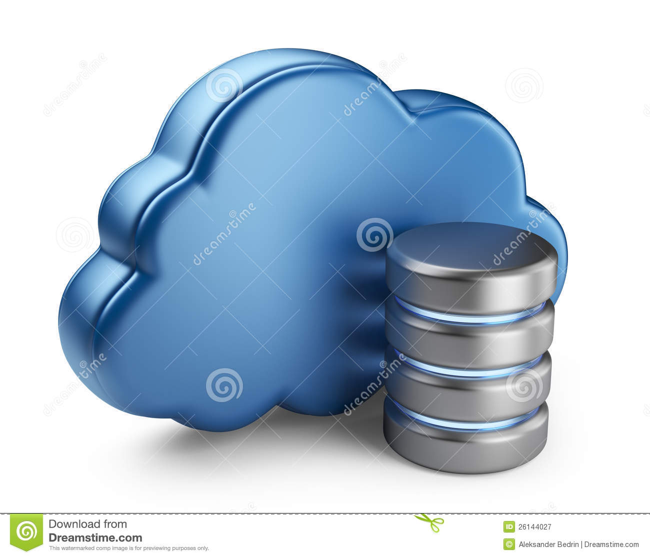 Royalty Free Stock Photography: Cloud computing and database. 3D icon ...
