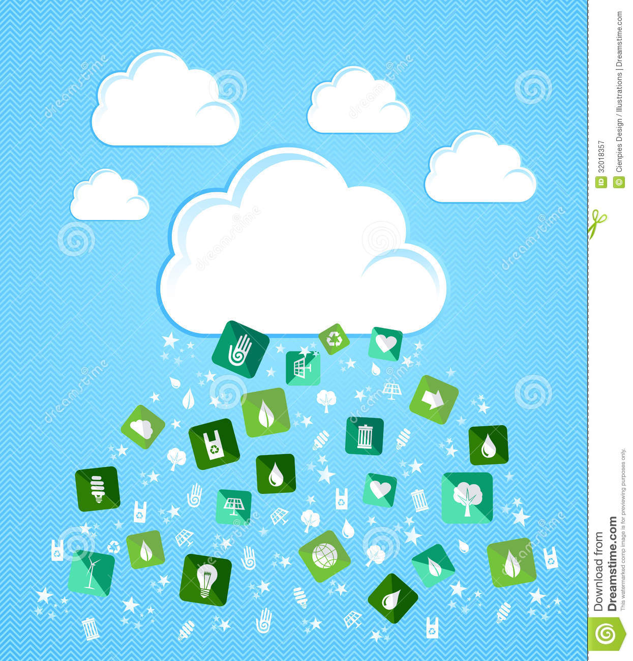 Cloud Computing Eco Friendly Icons Royalty Free Stock Photography ...