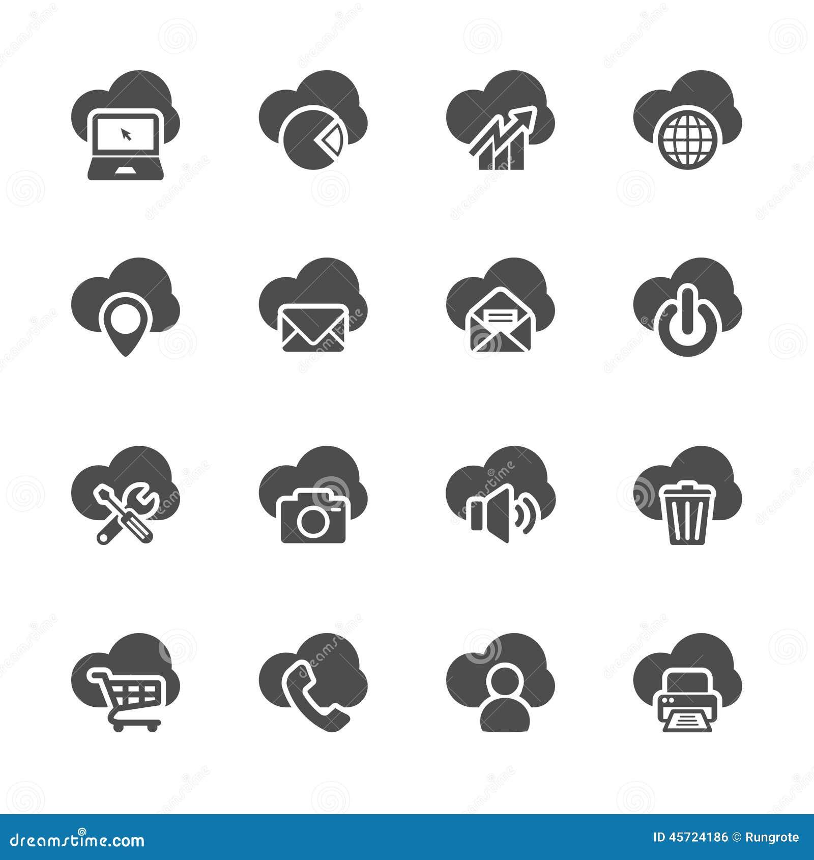 cloud computing icon vector illustration