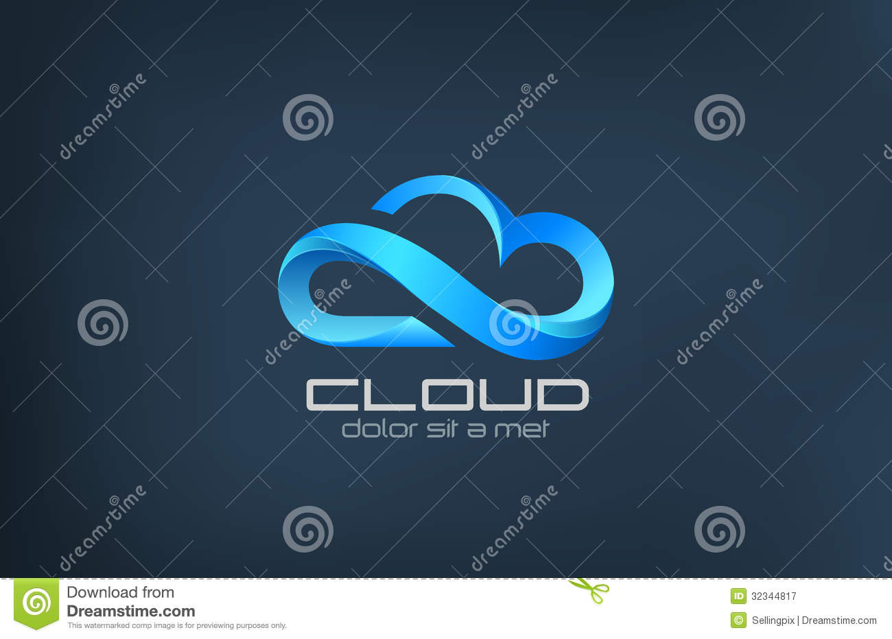 cloud computing icon vector logo design template creative business concept processing clouds service technology idea 32344817 - Le travail spéculatif et les logos en solde, oui ? Non ?