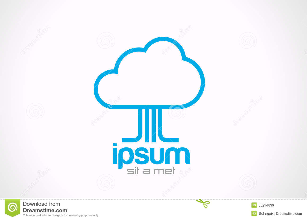logo cloud computing concept icon technology data stock