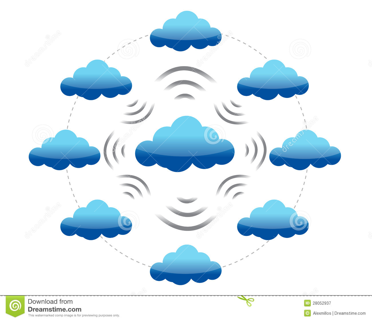 Networking Cloud Computing: Cloud Computing Network Royalty Free Stock Photography