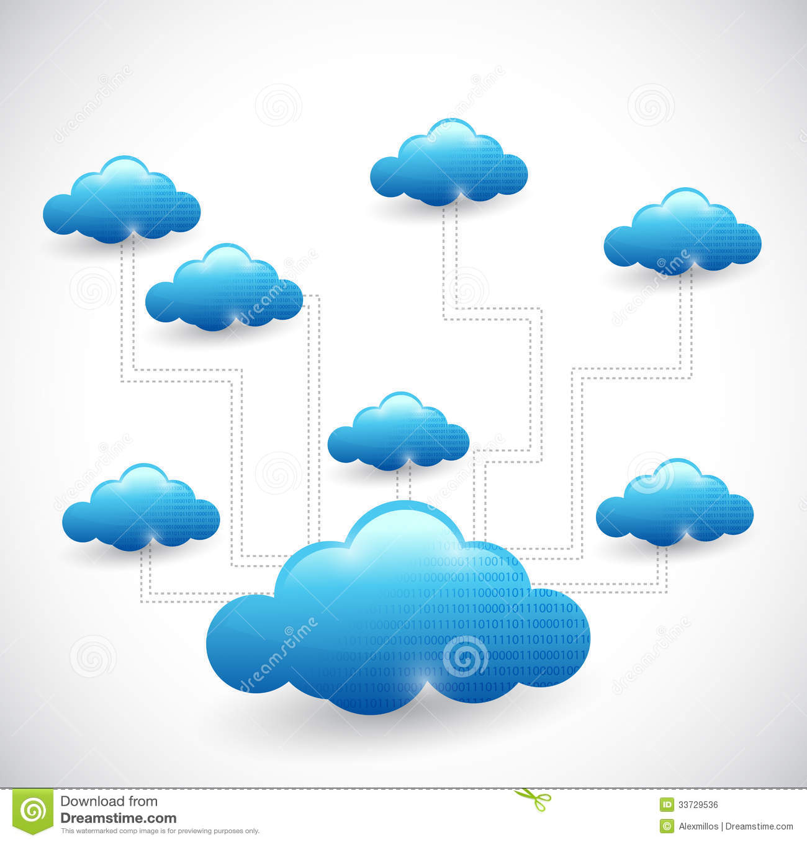 Cloud Network Diagram Stock Photos - Image: 20934463