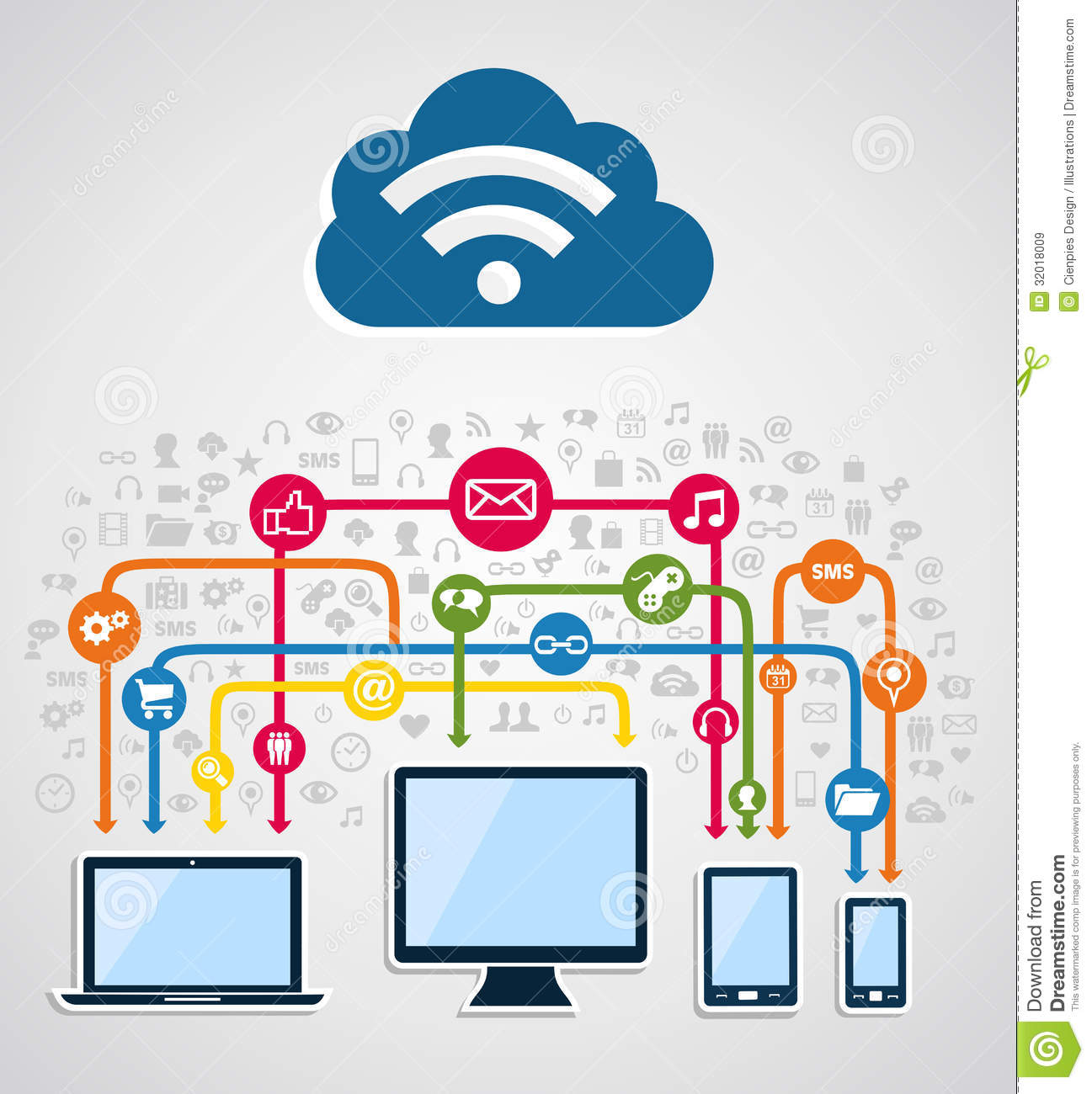 cloud computing network royalty free stock images   image    cloud computing network