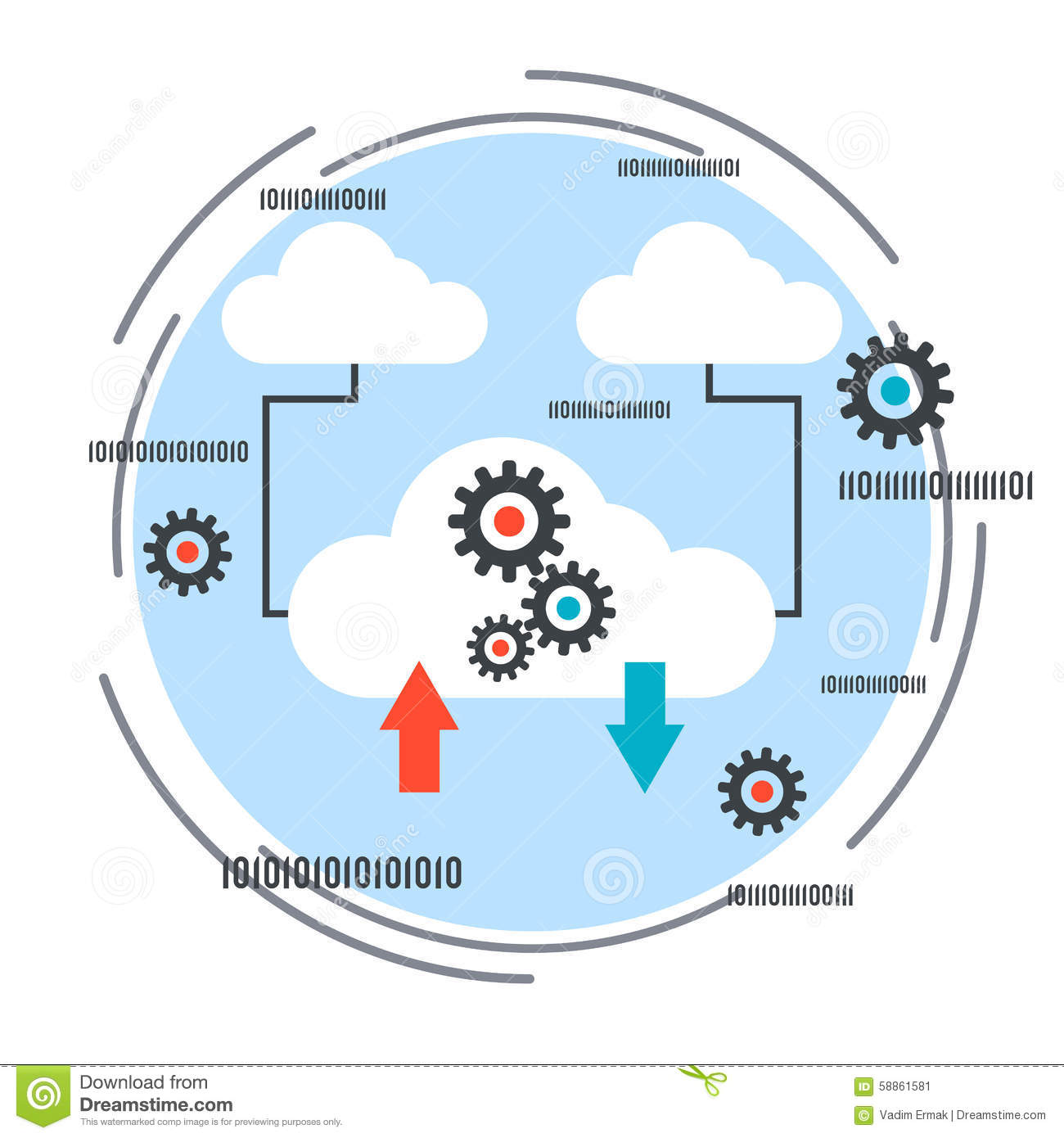 cloud computing remote control shared resources networking cloud computing remote control shared resources networking vector concept