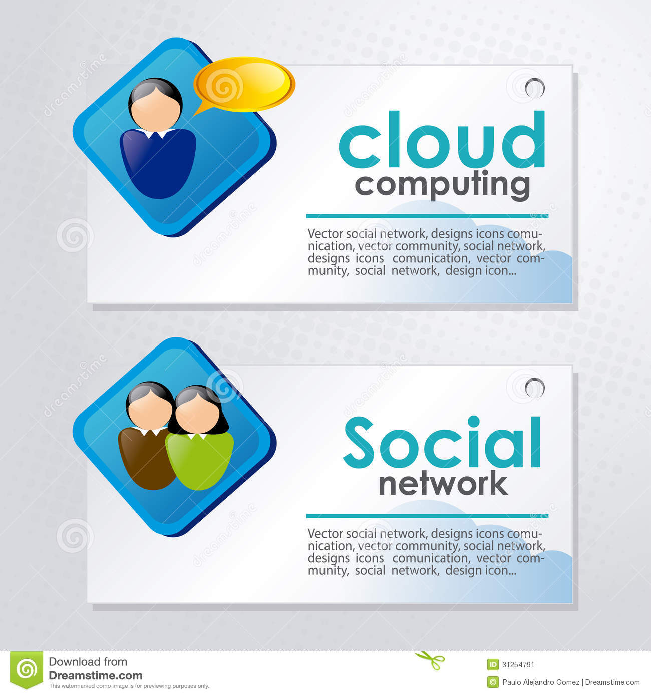 Networking Cloud Computing: Cloud Computing And Social Network Stock Image
