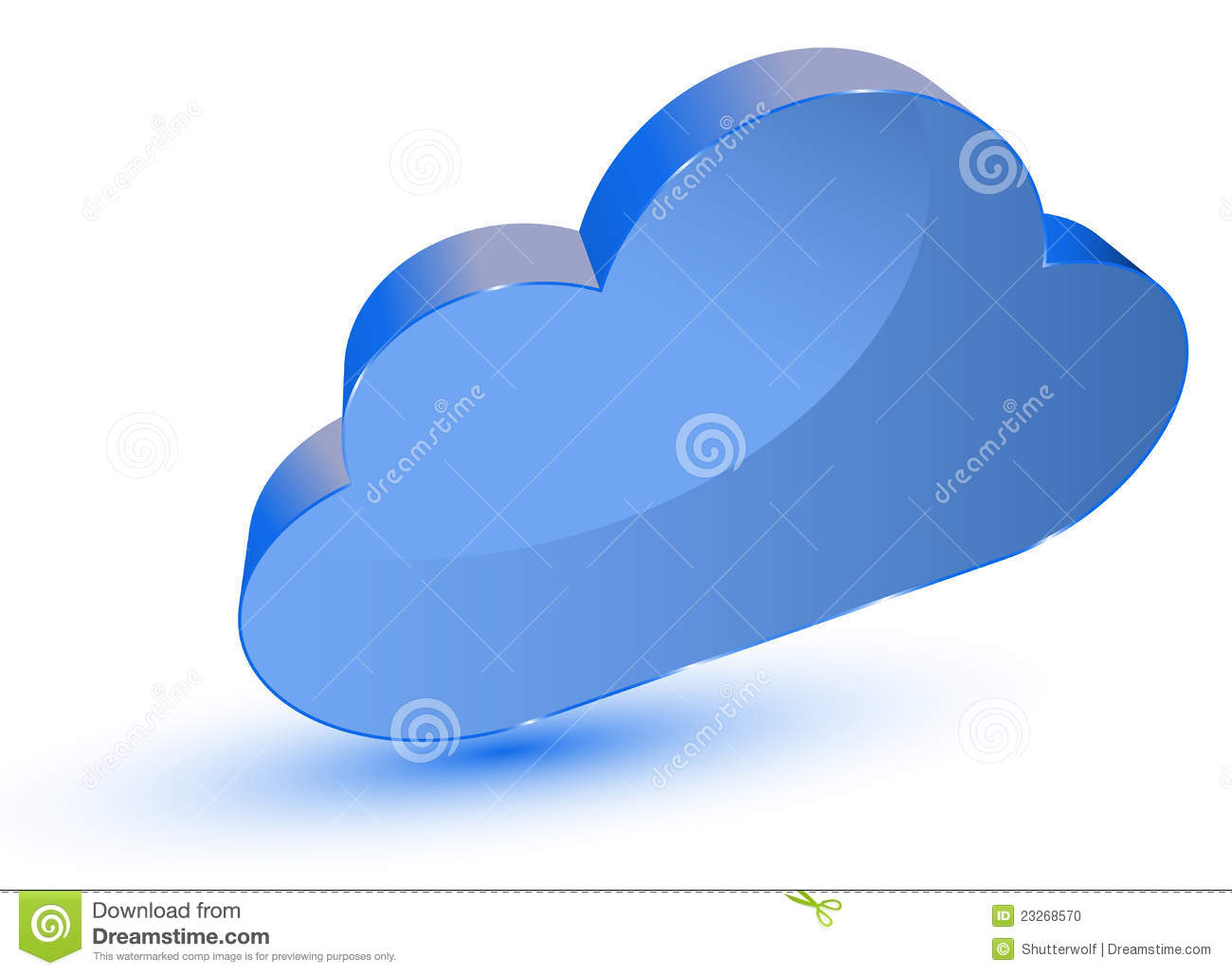 hand with cloud computing symbol against blue sky stock