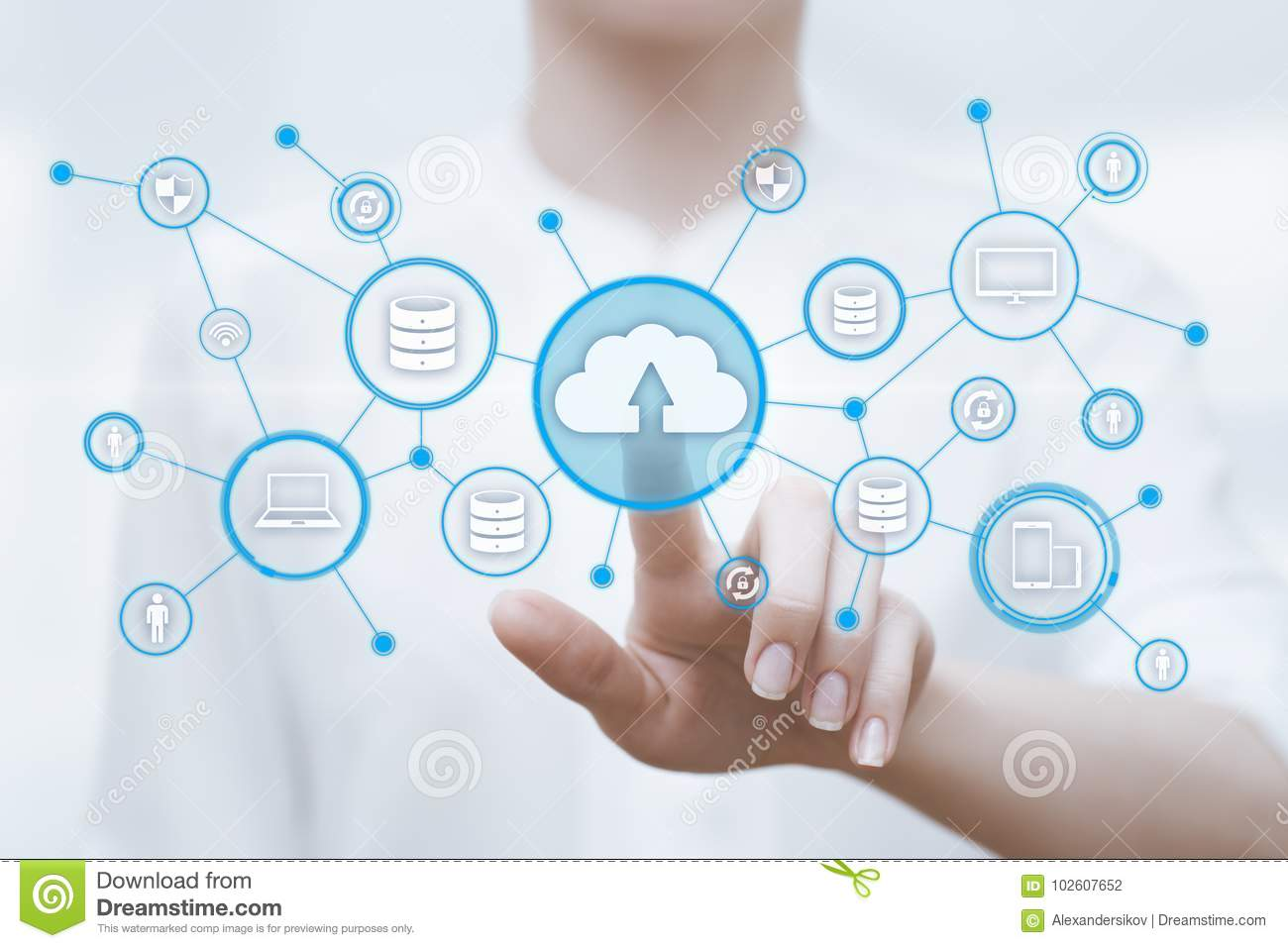 Cloud Computing Technology Internet Storage Network Concept