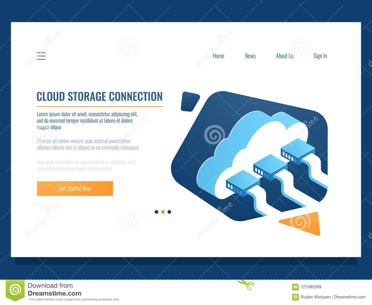 Cloud data storage, remote technology, networking connection, file share access for team, server room and datacenter