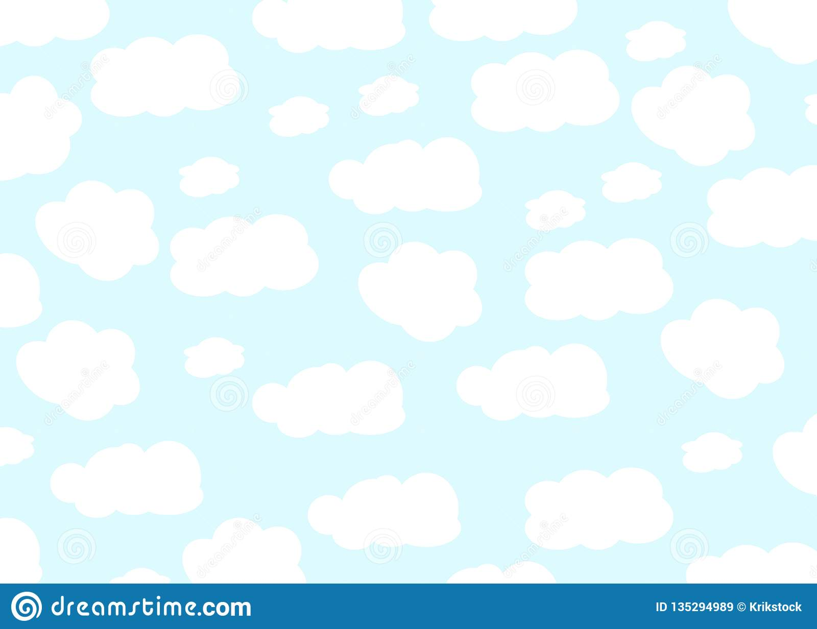 Cloud Design  Baby Background  Blue Sky With Clouds  Vector