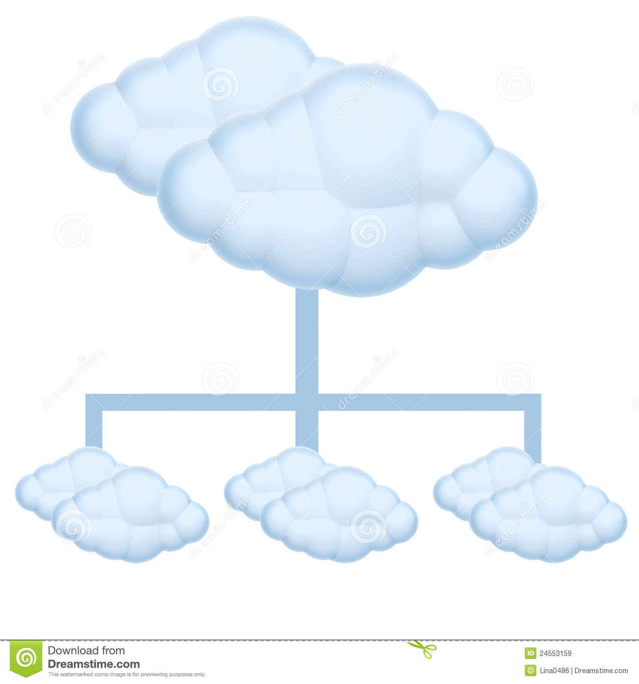Cloud Diagram Royalty Free Stock Images - Image: 24553159