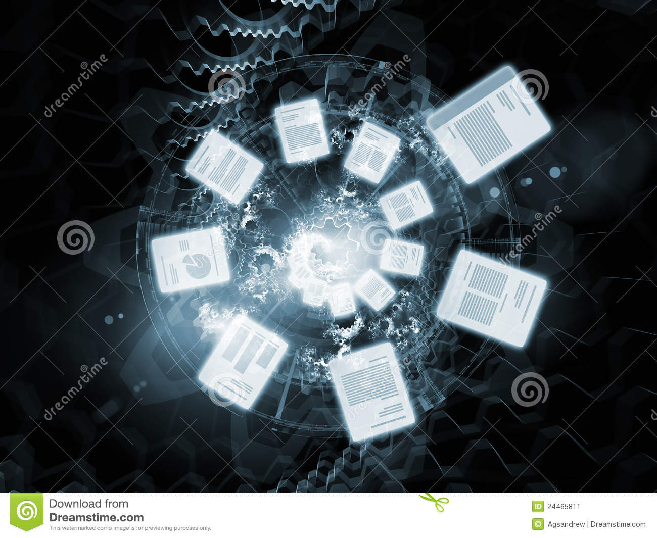 cloud of documents stock illustration  image of background