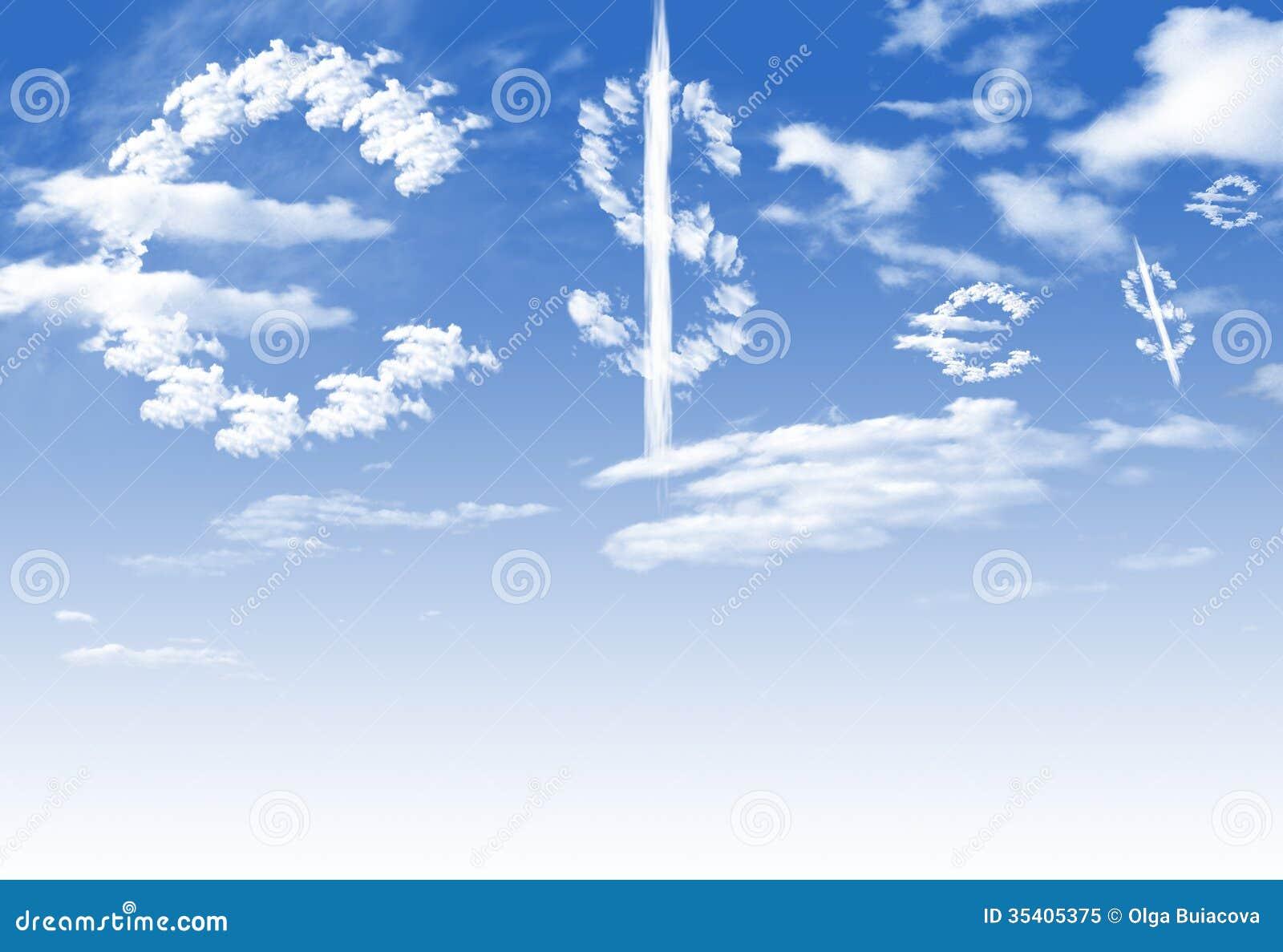 Cloud euro currency symbol shape stock image image of clean cloud euro and currency symbol shape over sky royalty free stock photo buycottarizona Choice Image