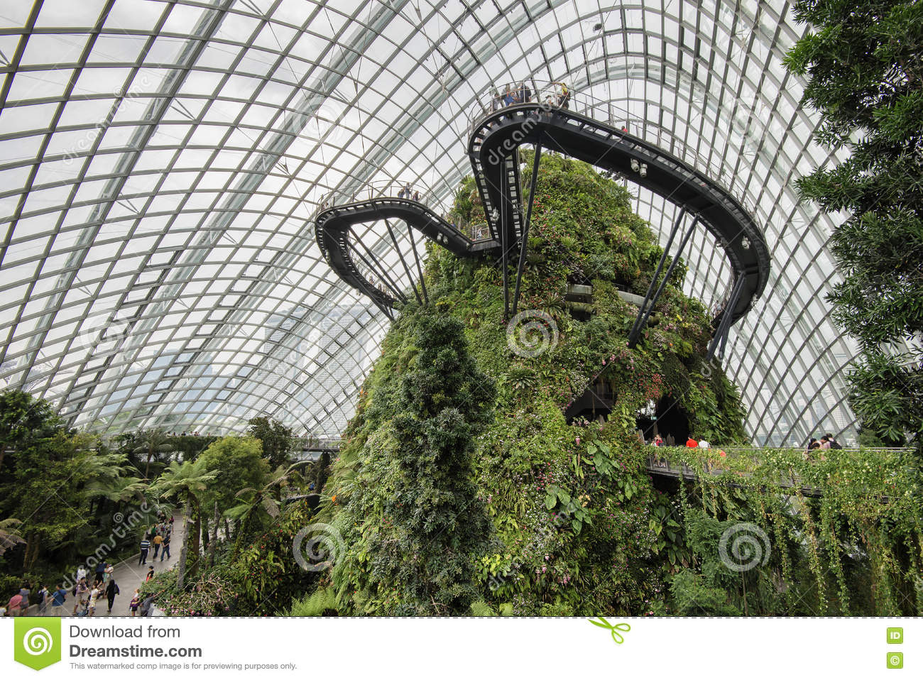 Cloud Forest Dome Garden By The Bay Singapore Editorial Stock