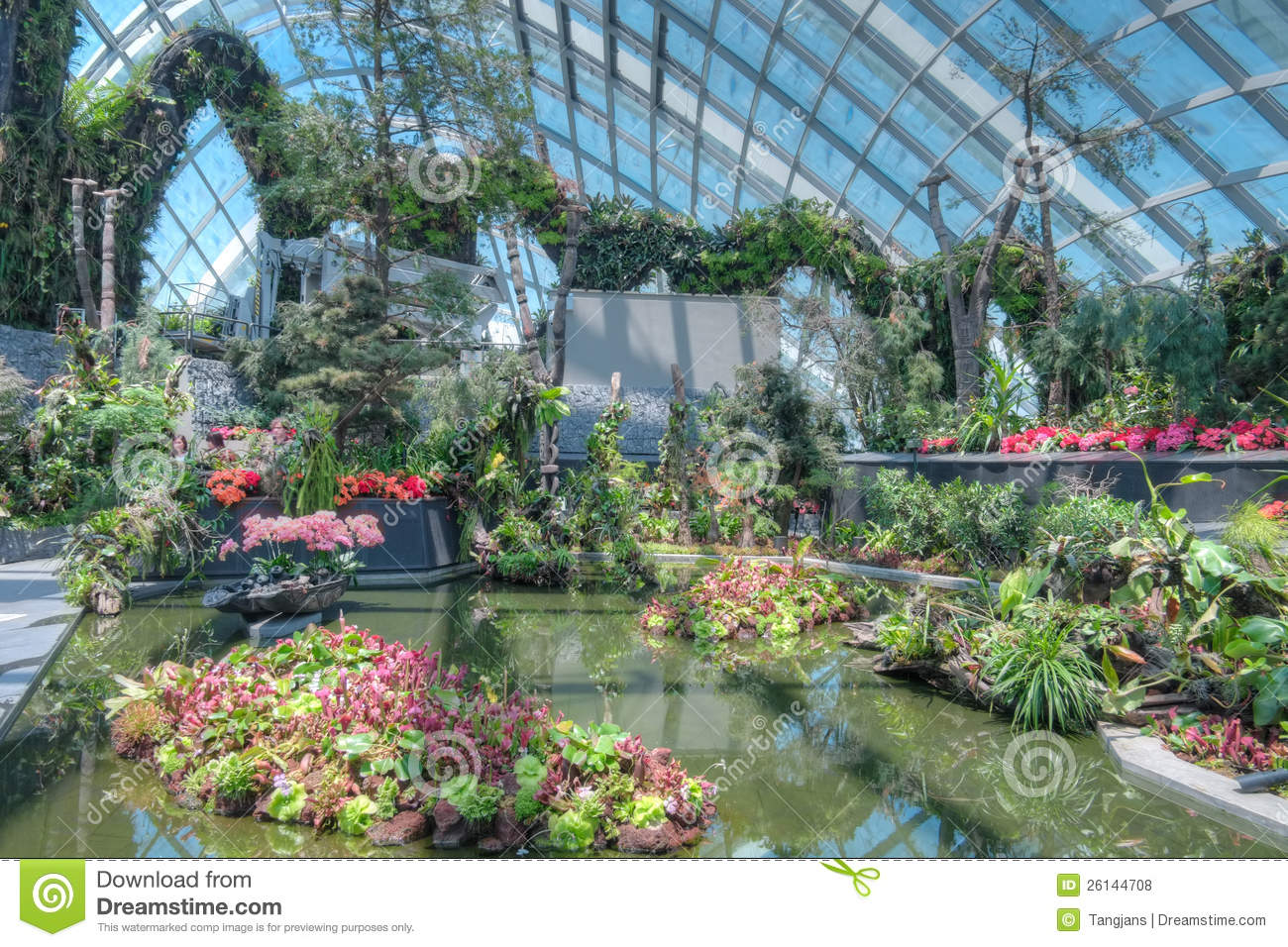 Garden By The Bay Cloud Forest cloud forest, gardensthe bay editorial stock photo - image