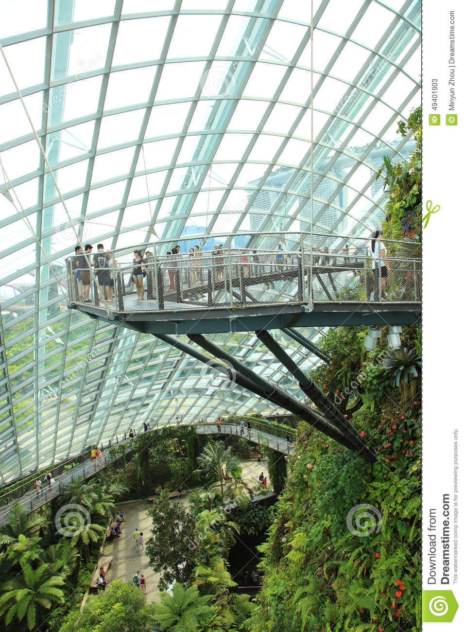 Garden By The Bay Cloud Forest cloud forest, gardensthe bay. editorial stock photo - image