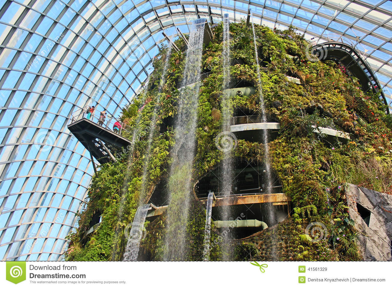Cloud Forest - Gardens By The Bay, Singapore Editorial ...