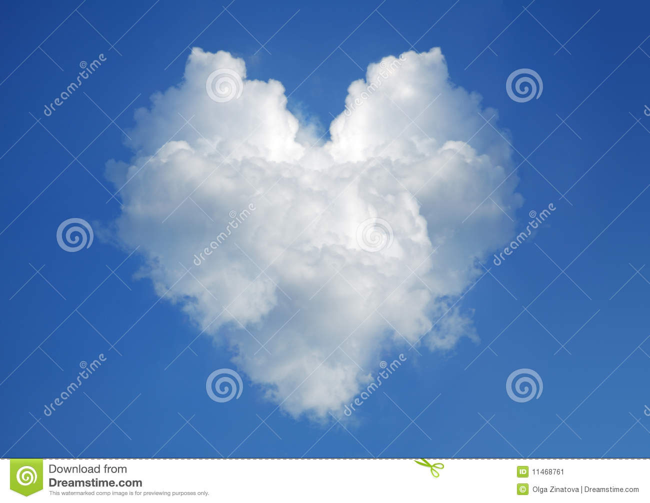 Cloud In The Form Of Heart Stock Image - Image: 11468761