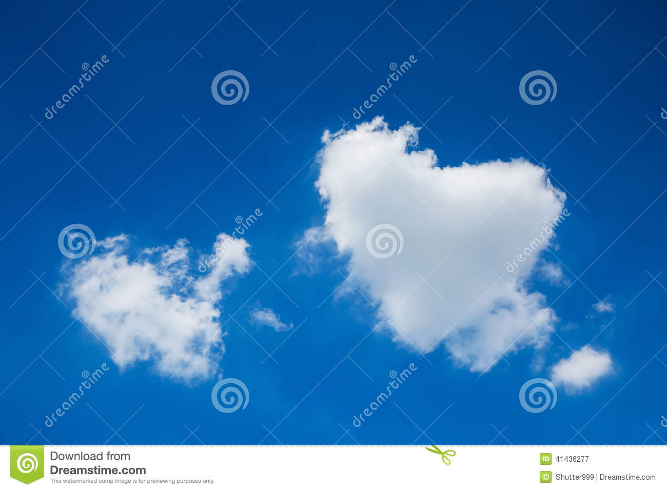 Cloud in the form of heart on blue sky