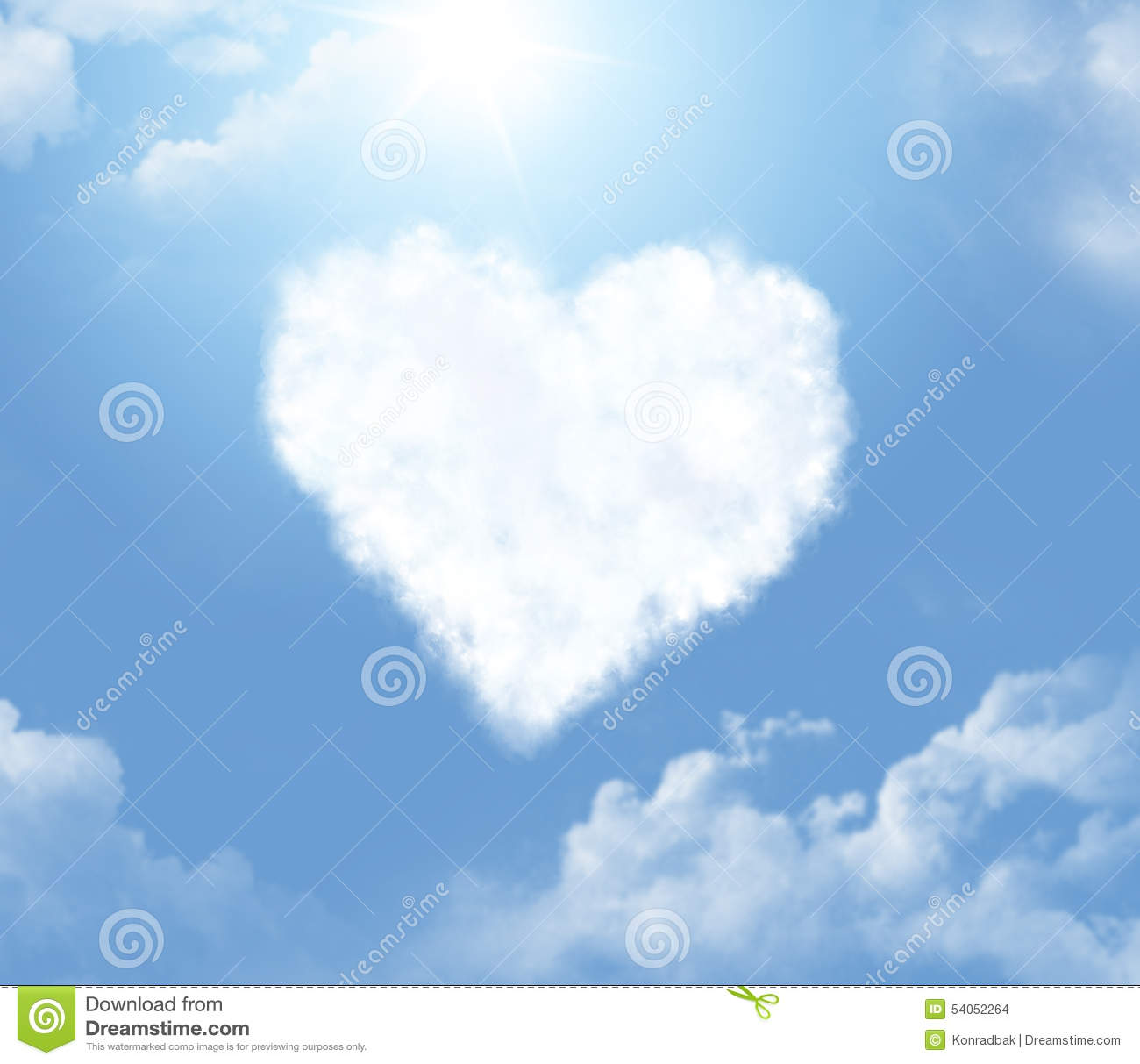 Cloud In A Form Of A Heart Stock Photo - Image: 54052264