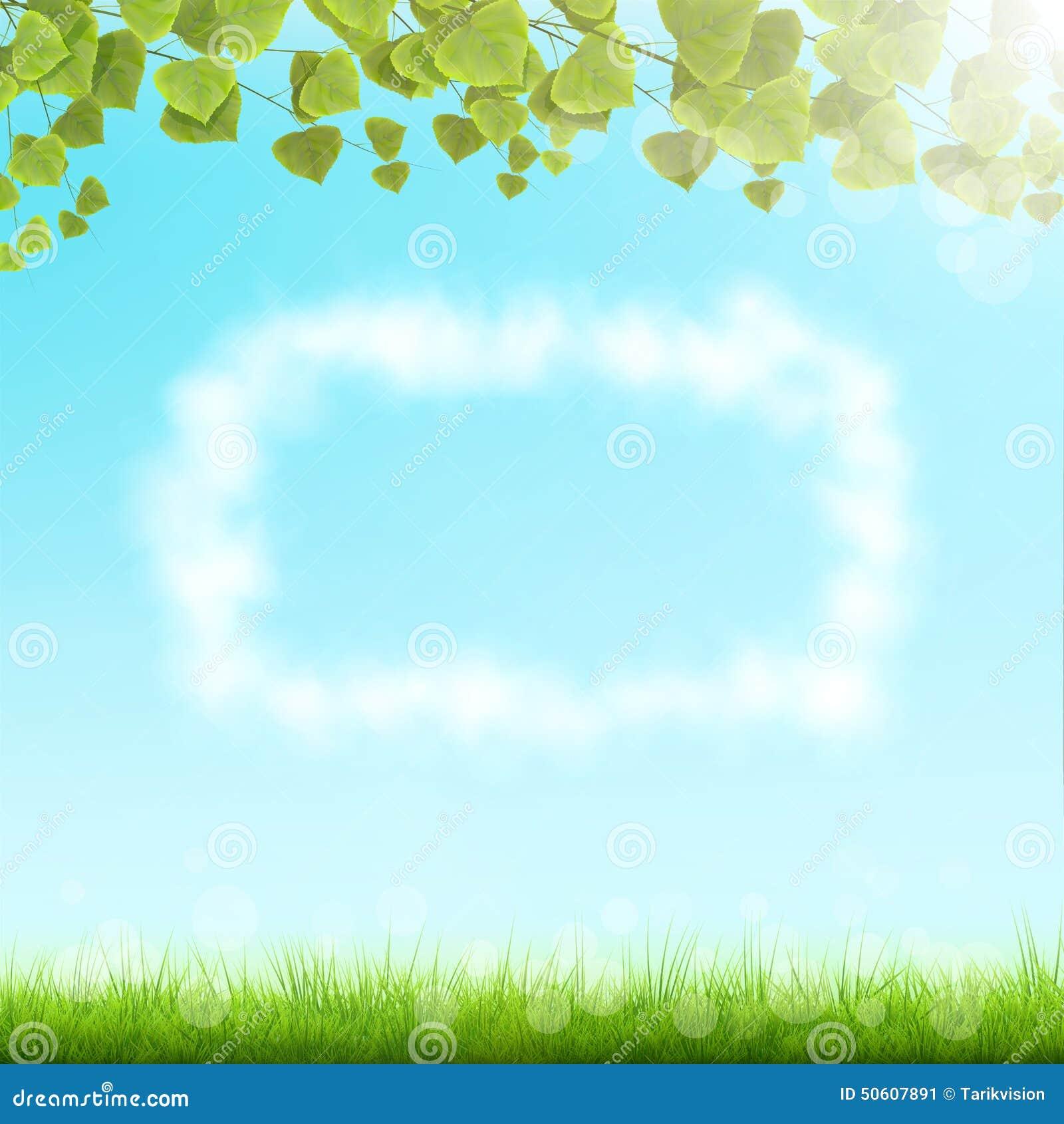 cloud frame on sky background stock image