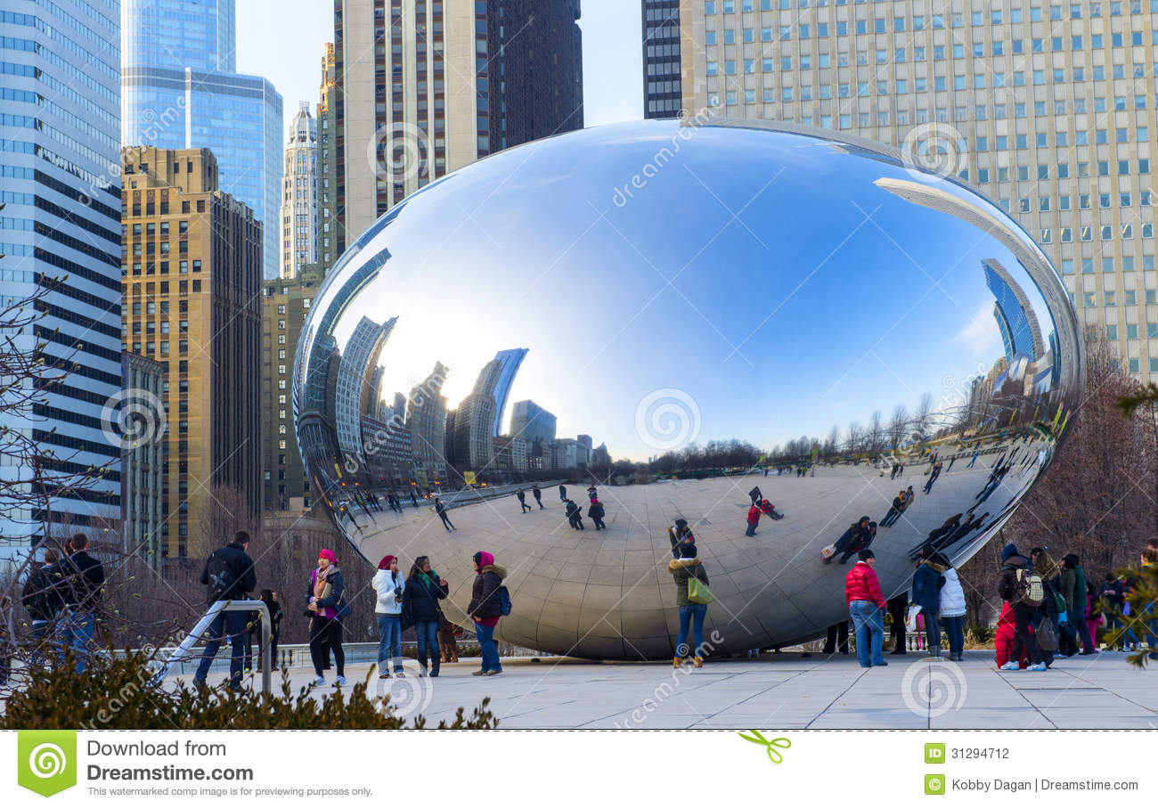 Cloud Gate Editorial Photography Image 31294712