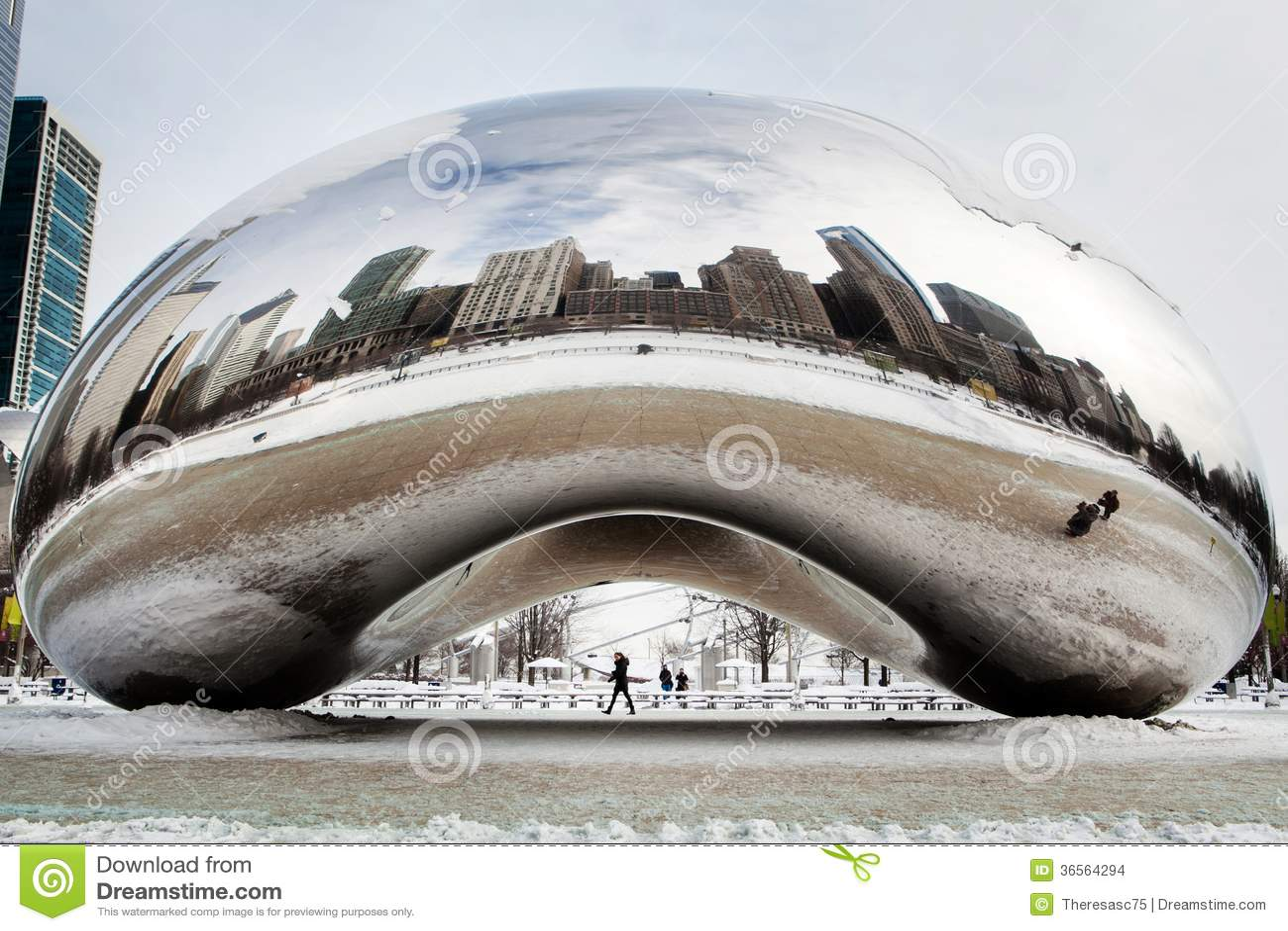 Cloud Gate Winter Editorial Stock Image - Image: 36564294