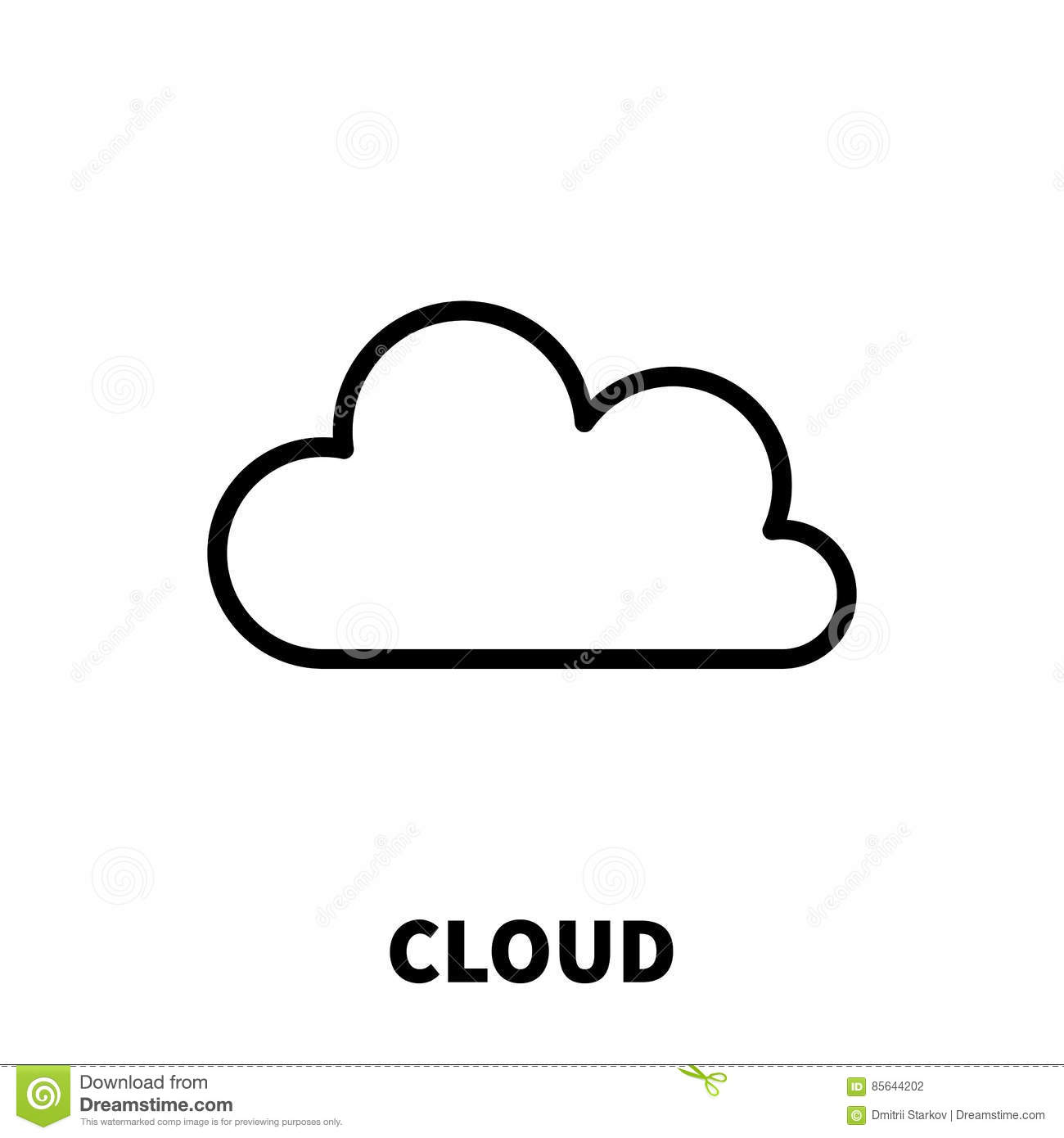 Cloud Icon Or Logo In Modern Line Style. Stock Vector ...