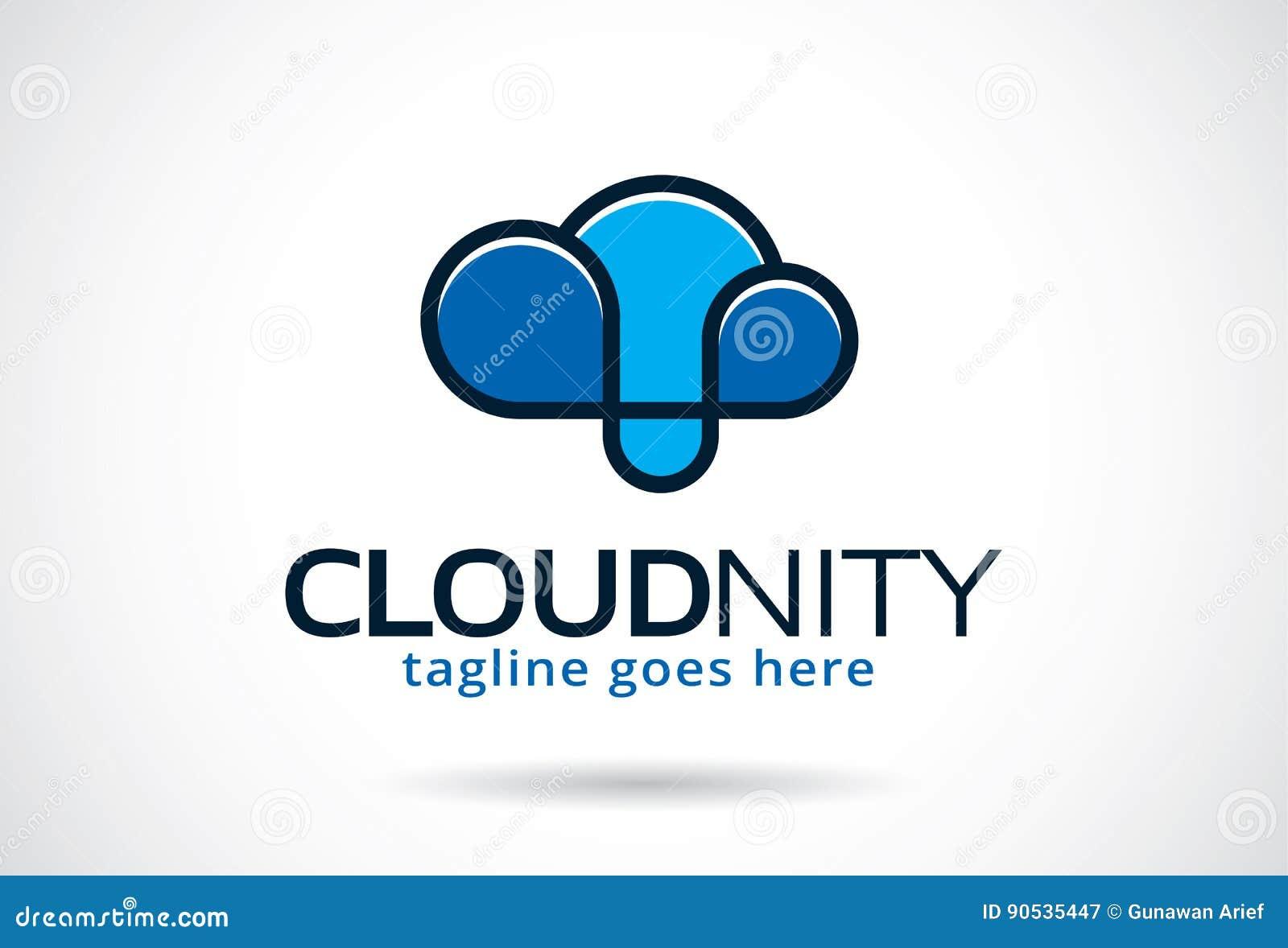Cloud Infinity Logo Template Design Vector Emblem Design Concept