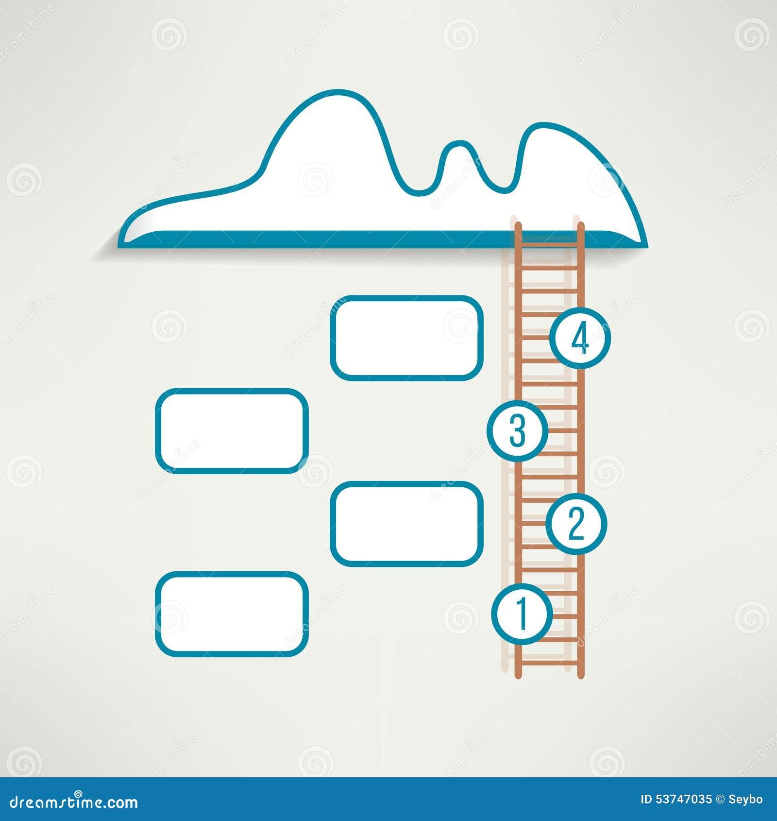 cloud ladder simple clean infographics design stock vector cloud ladder simple clean infographics design