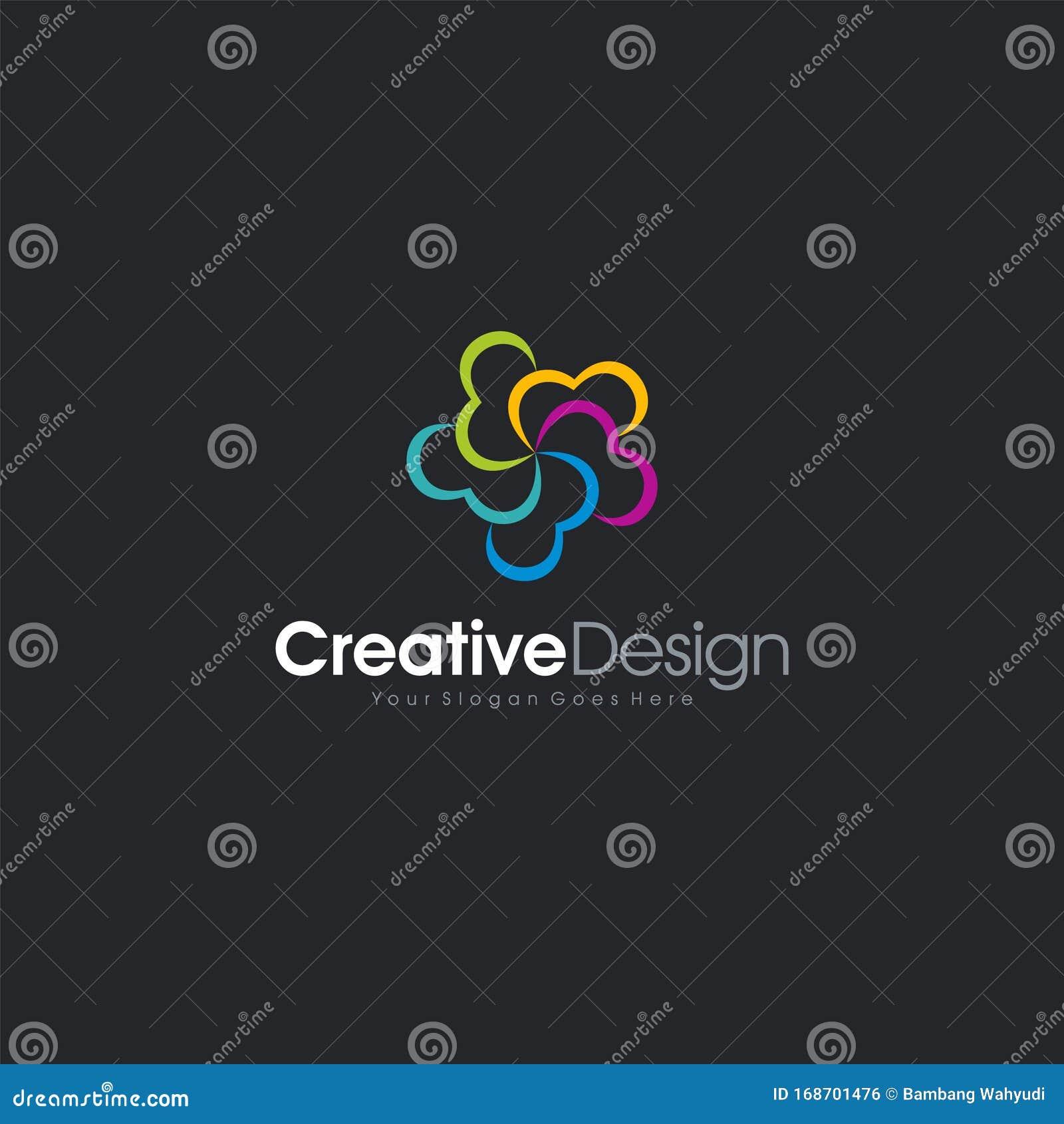 Cloud Logo Icon Abstract Letter E Logo Design. Creative