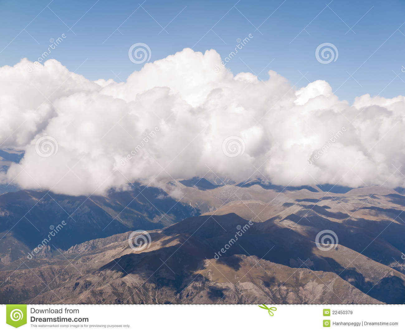 plane clouds and mountains - photo #43