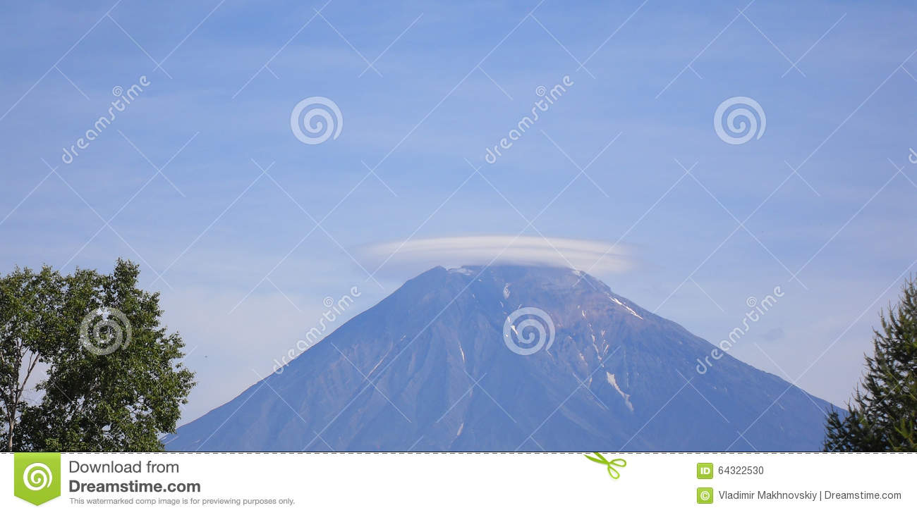 Cloud over the Koryak volcano