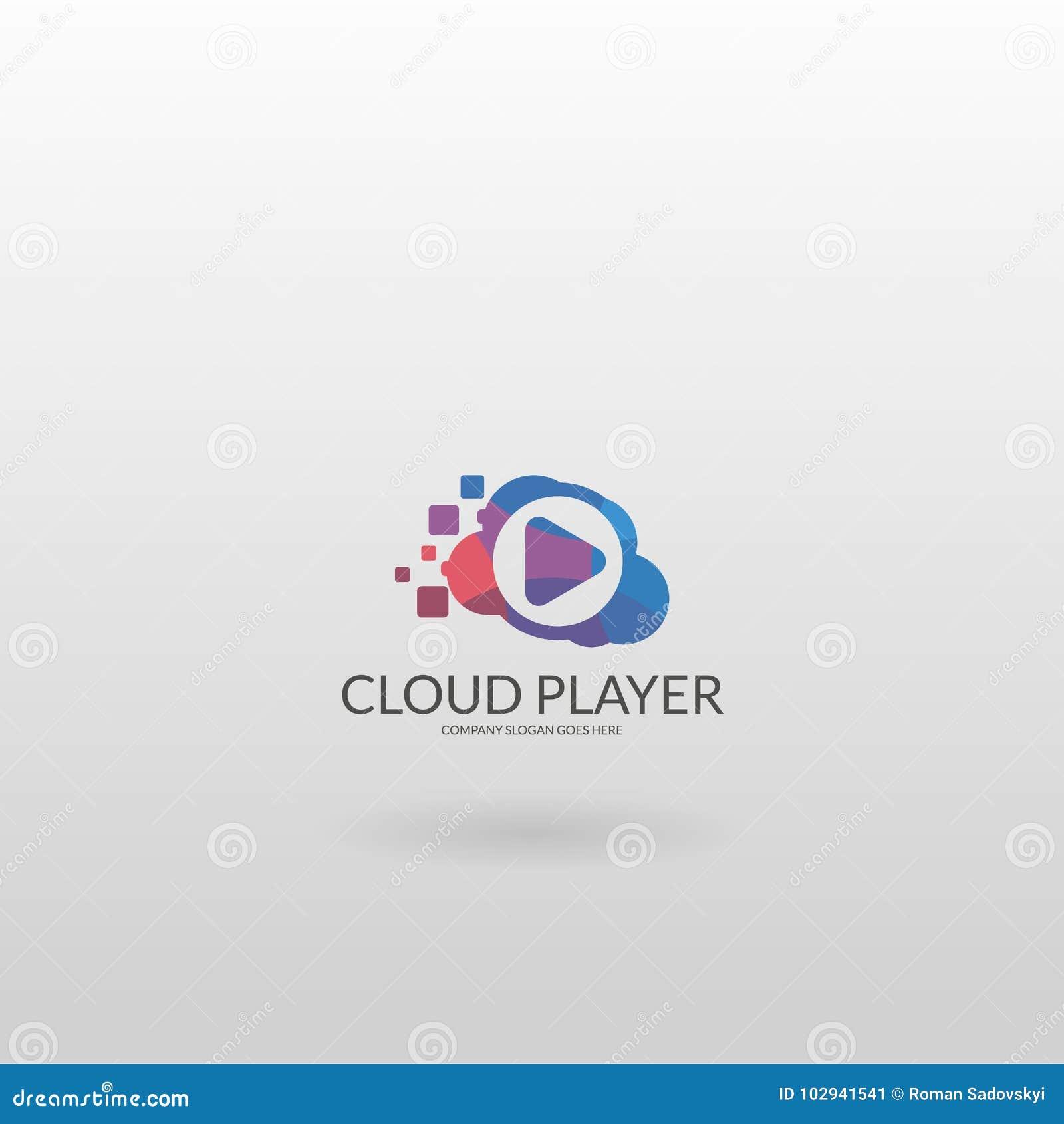 Cloud Player Calibre Multicolore De Logo De Joueur Illustration de