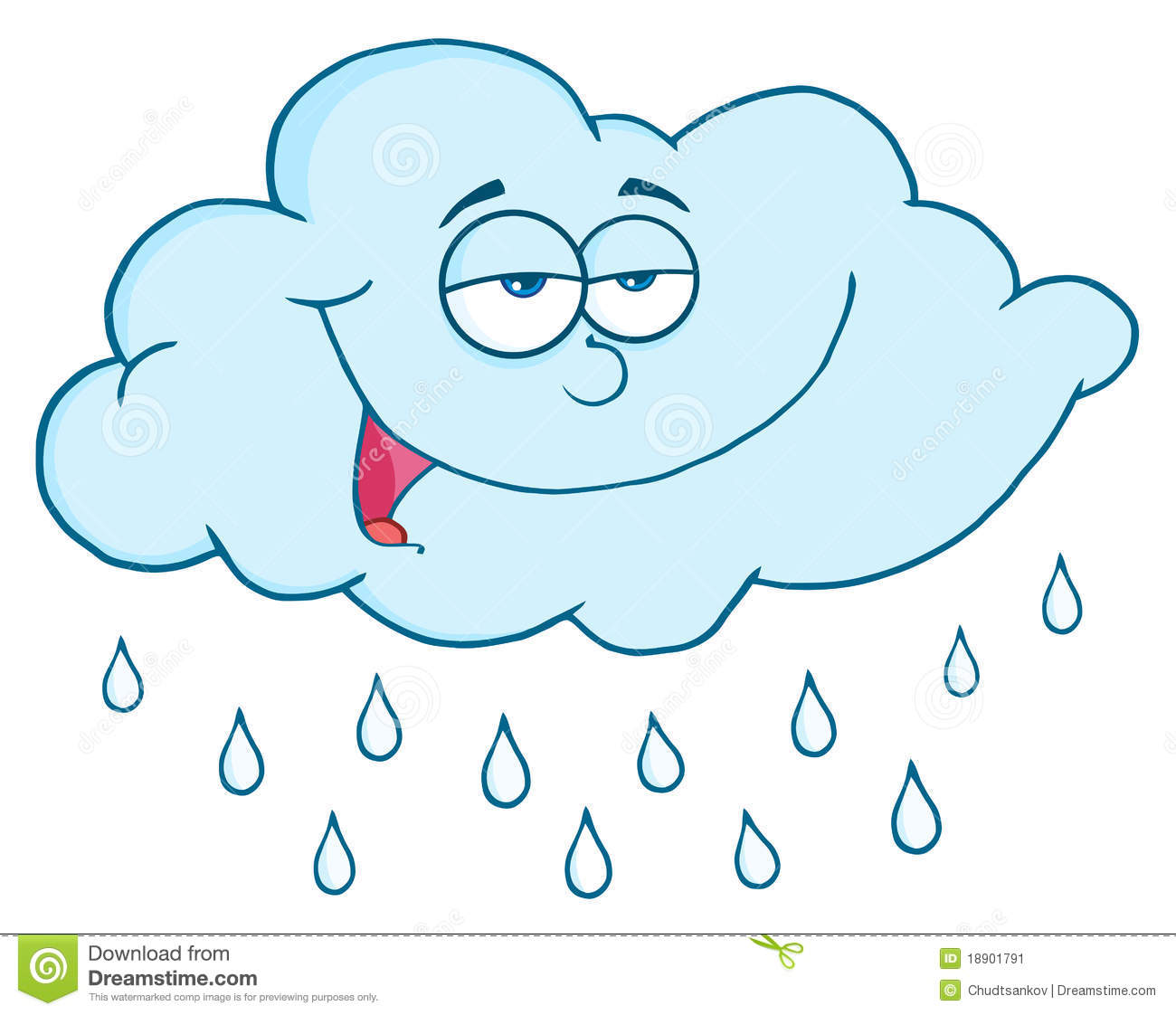 Cloud With RainDrops Stock Image - Image: 18901791