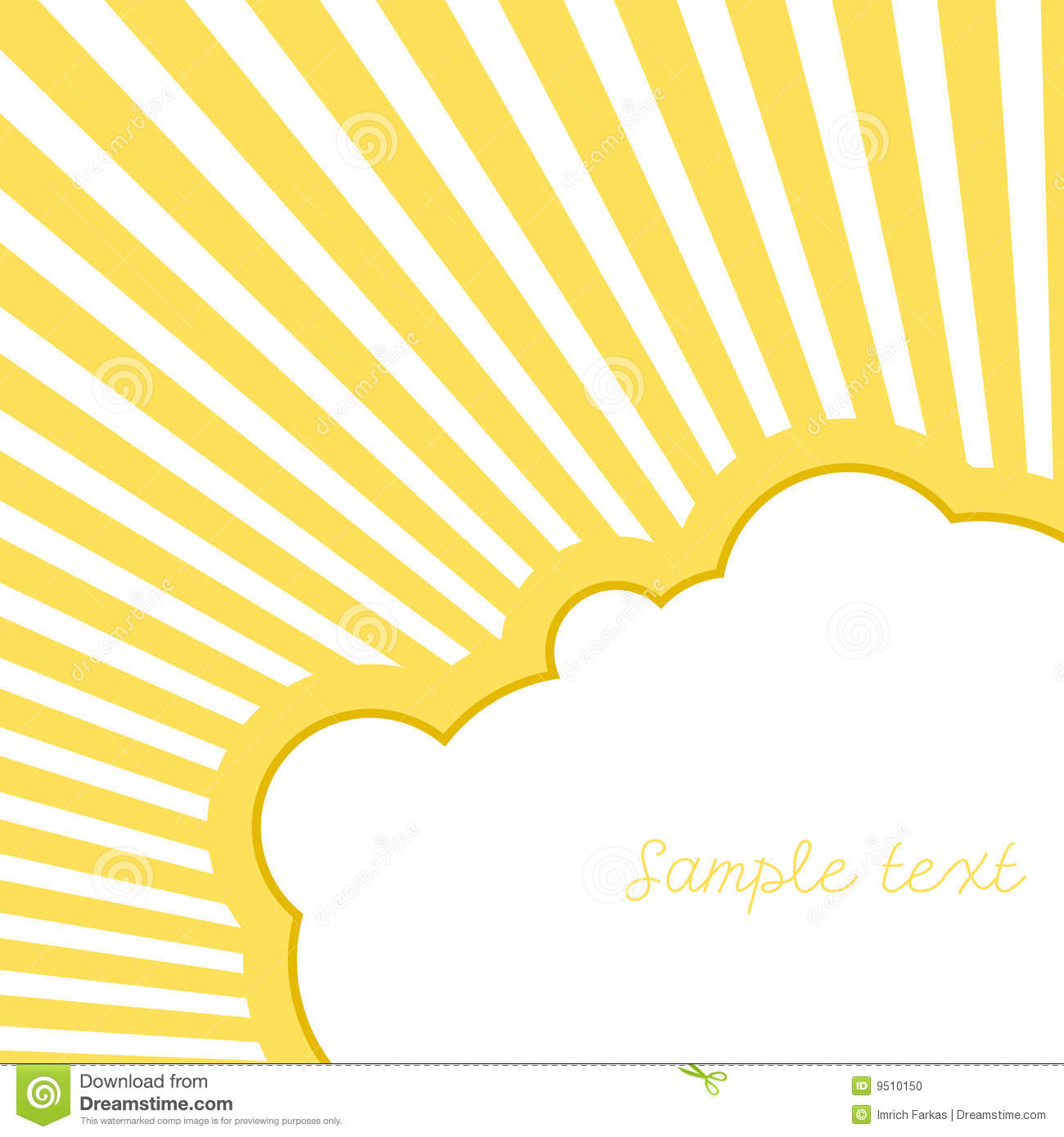 Cloud With Rays. Vector Stock Photo - Image: 9510150