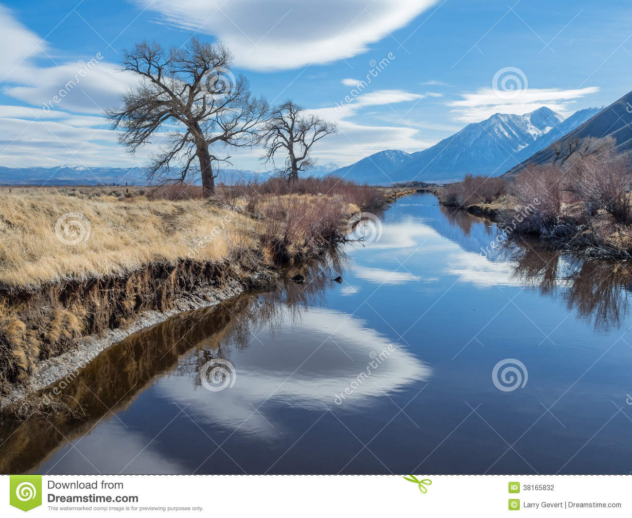 Cloud reflections in the Carson River Valley