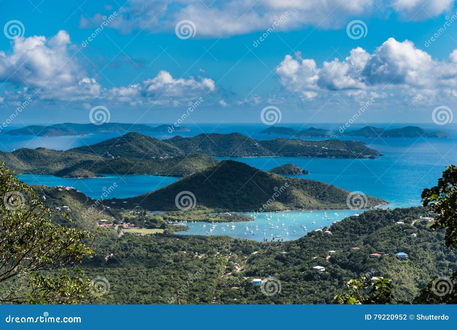 Cloud shaded archipelago off the coast of St. Johns island
