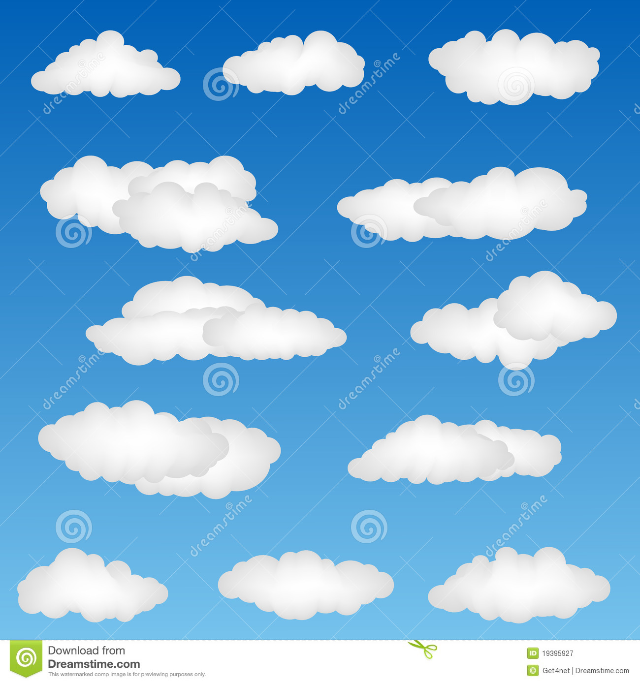 Cloud Shapes Royalty Free Stock Photography - Image: 19395927