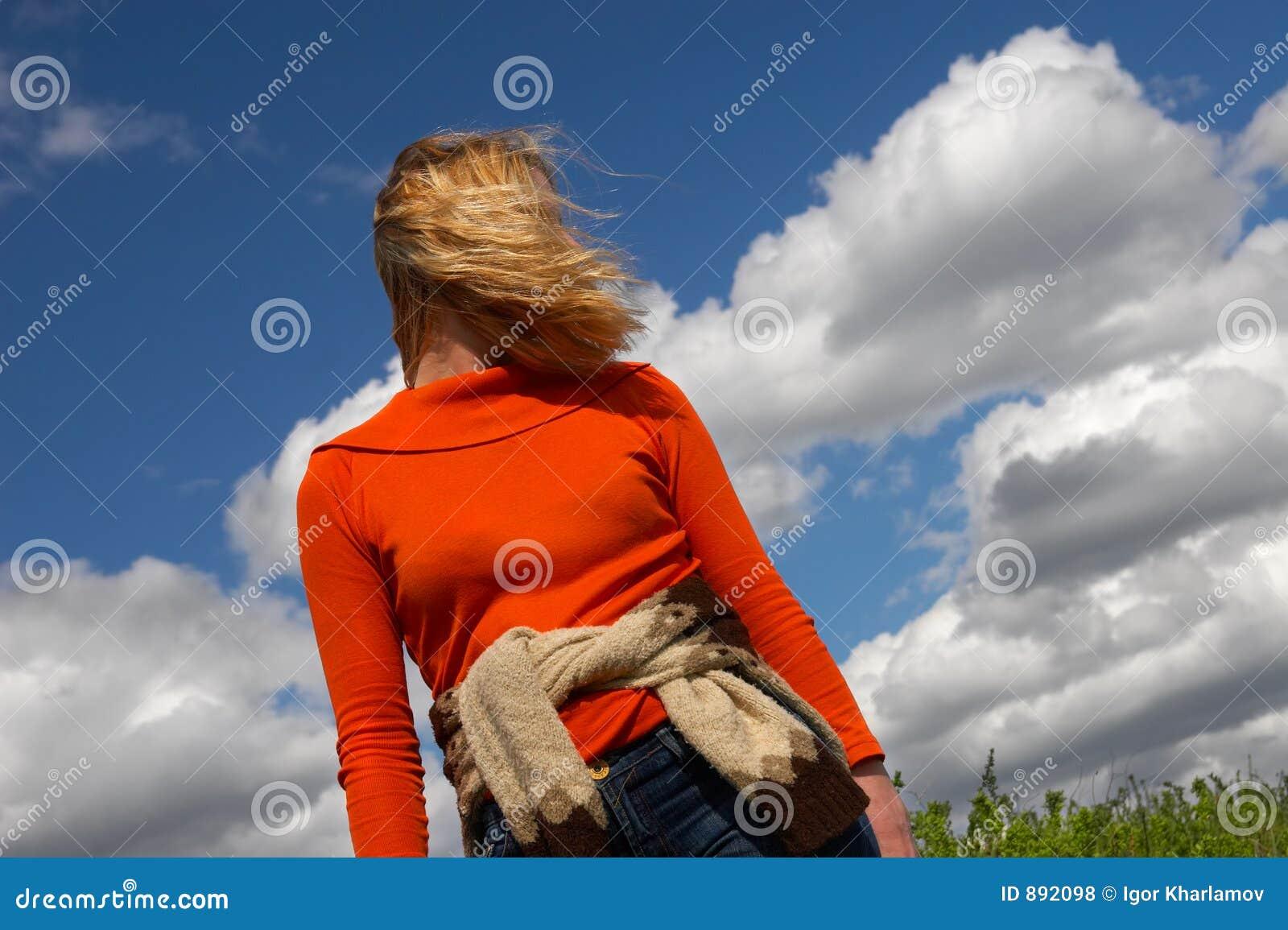 Cloud sibir błękit nieba kobiety