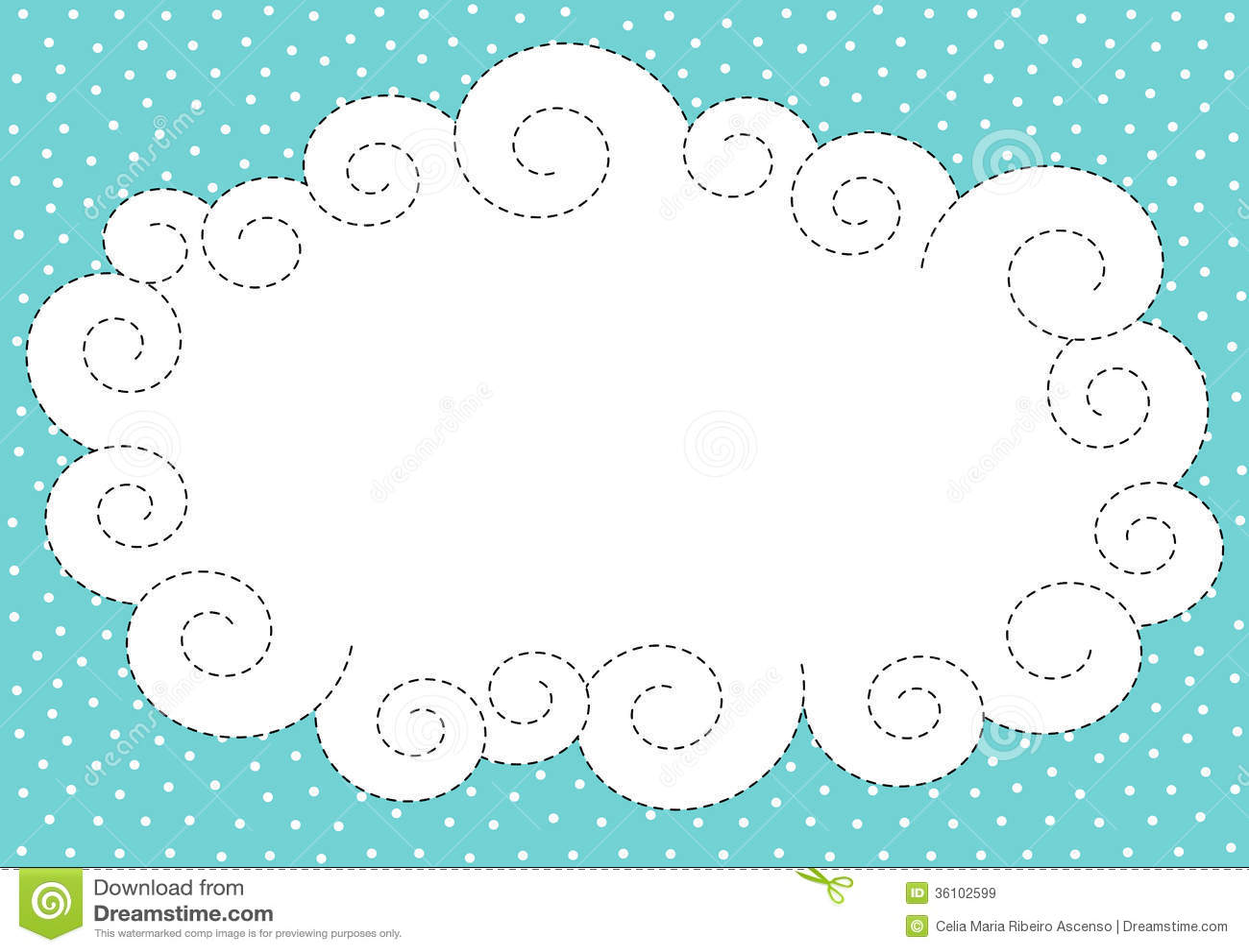 Cloud And Snow Border Frame Stock Illustration - Illustration of ...