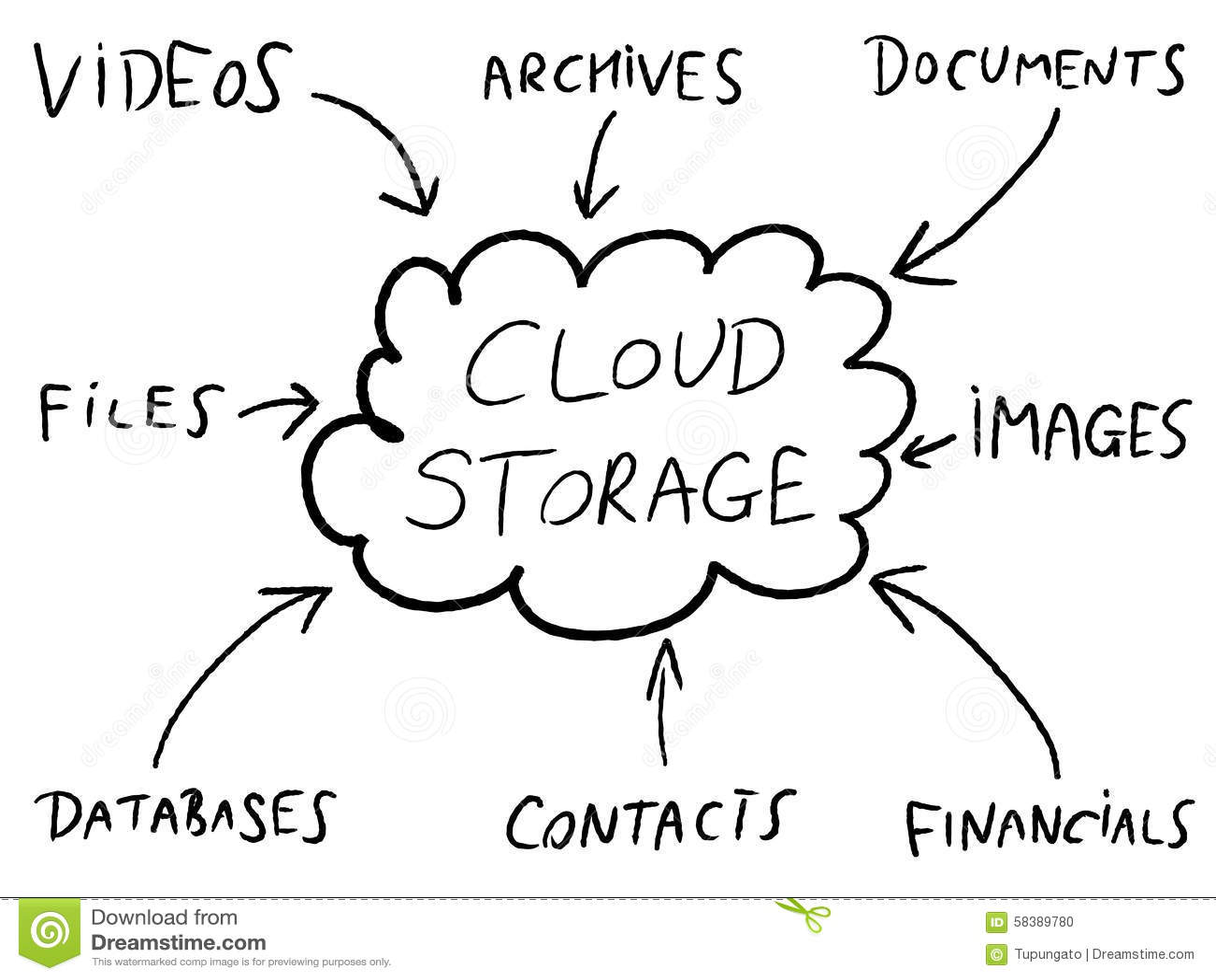 cloud storage stock vector
