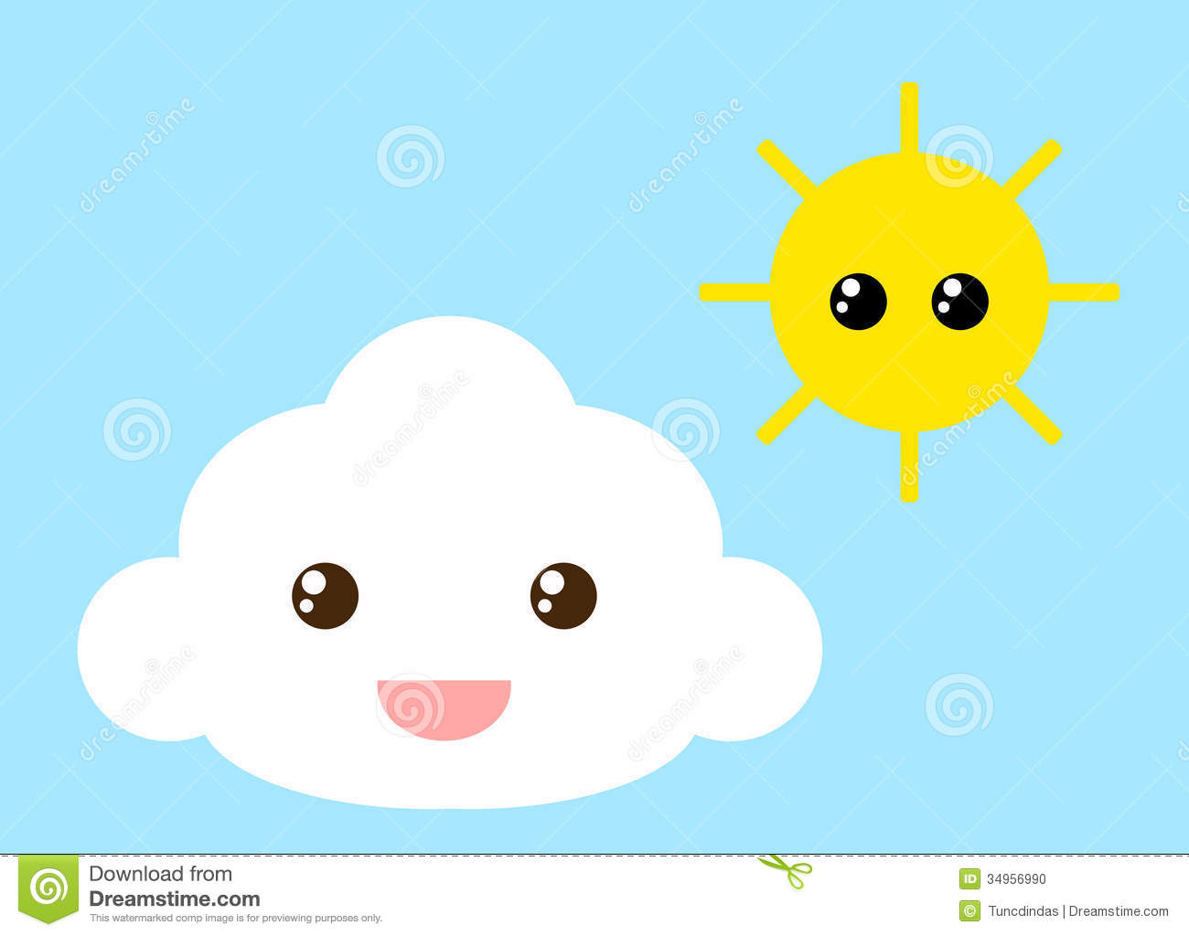 Cloud And Sun Stock Photo - Image: 34956990