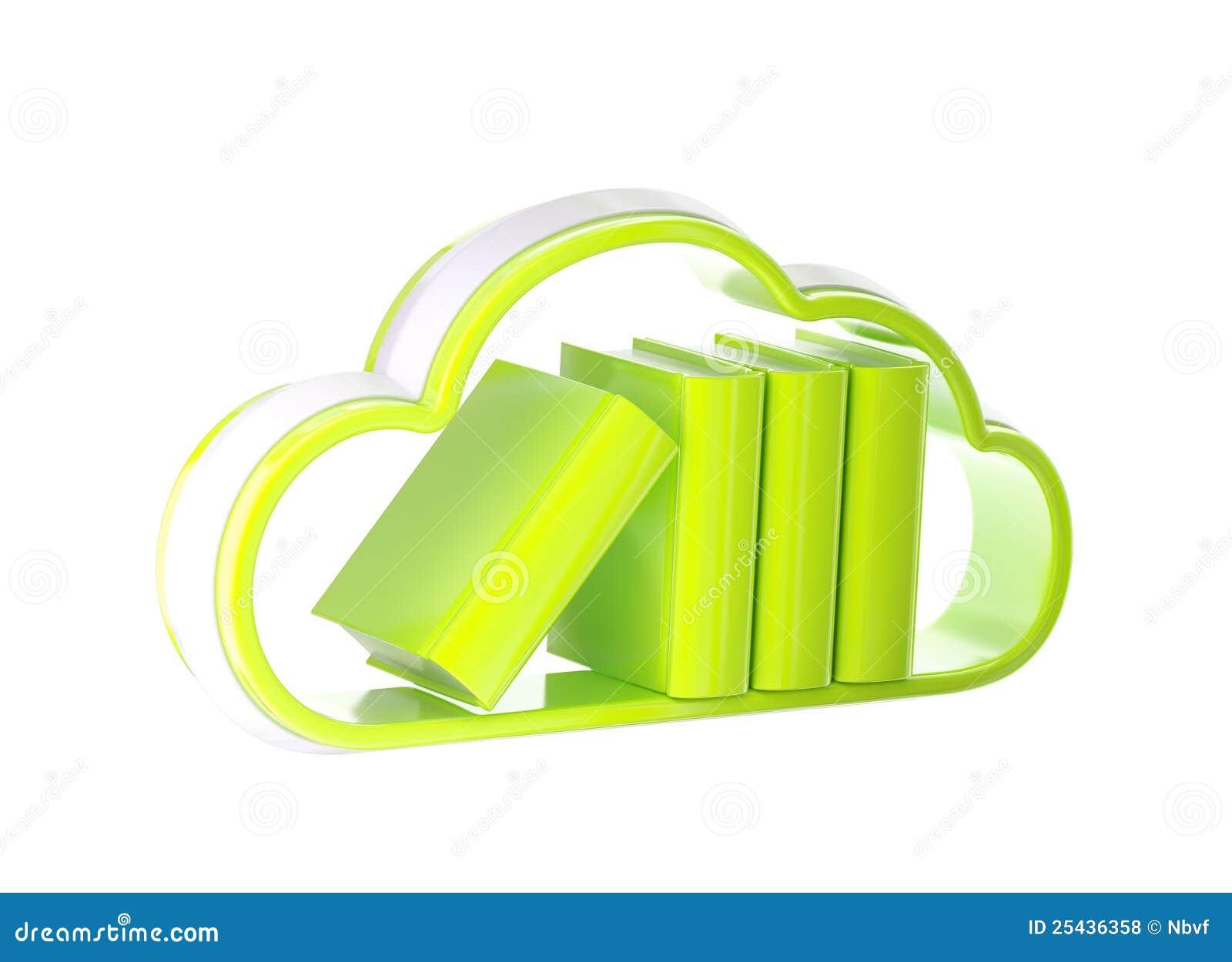 Cloud Technology Database Icon Isolated Stock Illustration