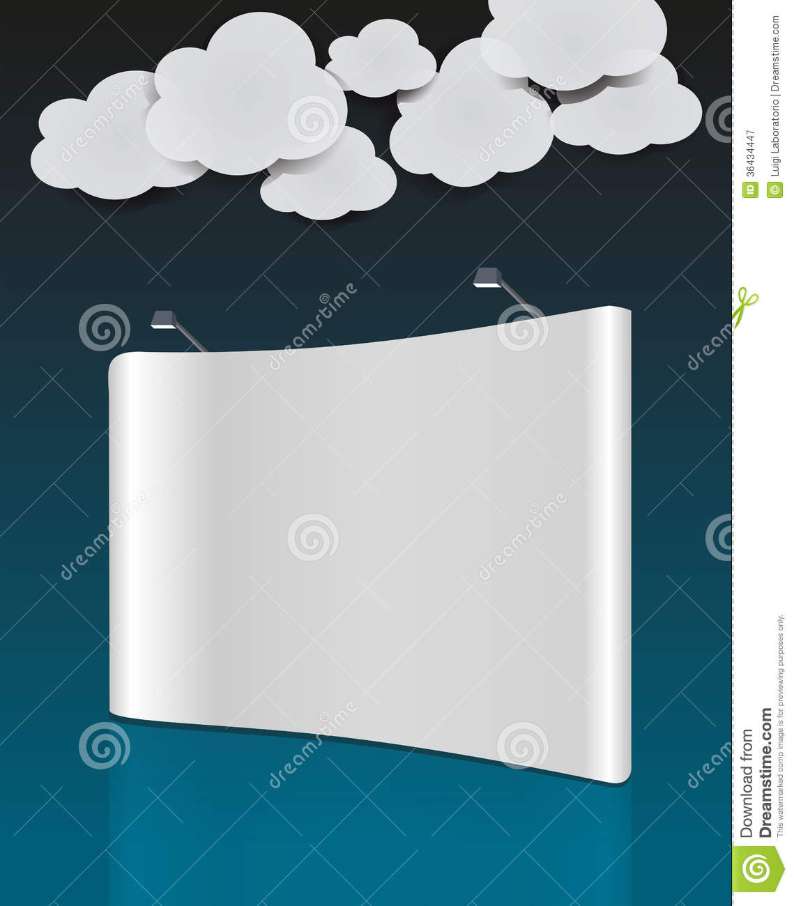 Exhibition Booth Vector Free Download : Cloud vector blank trade show royalty free stock