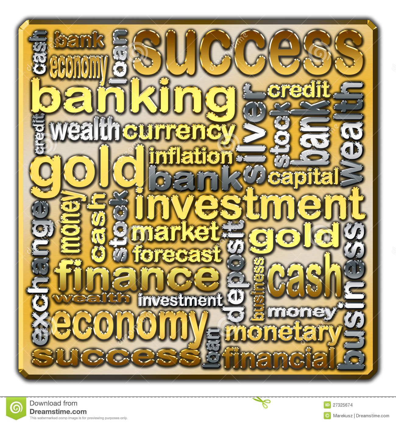 Finance Words: Cloud Of Words Describing The Finance And Banking Stock