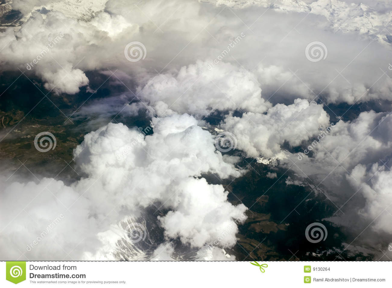 plane clouds and mountains - photo #19