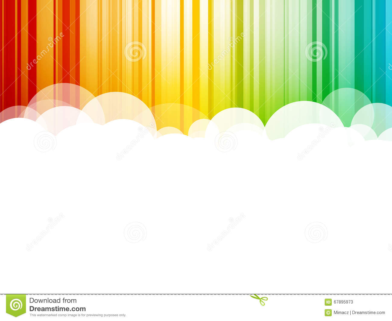 Clouds background colorful stripes