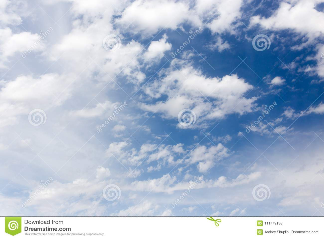 Clouds in the blue sky as background