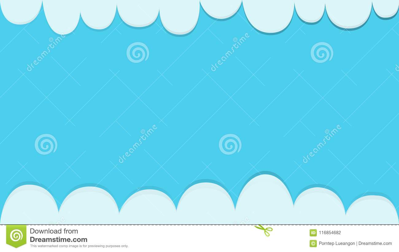 clouds with blue sky background template vector stock vector